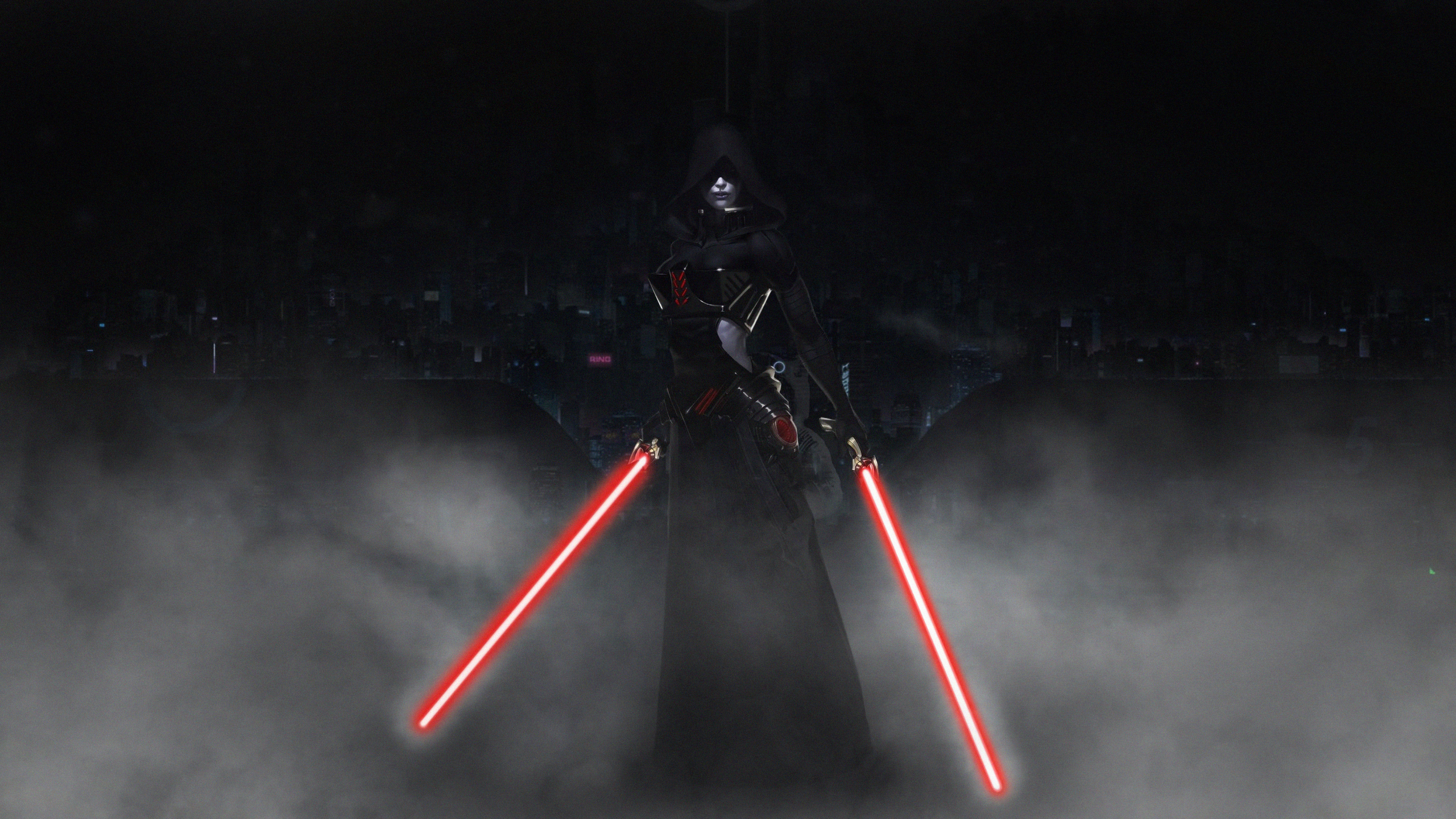 2560x1440 Sith With Lightsaber 1440p Resolution Wallpaper Hd