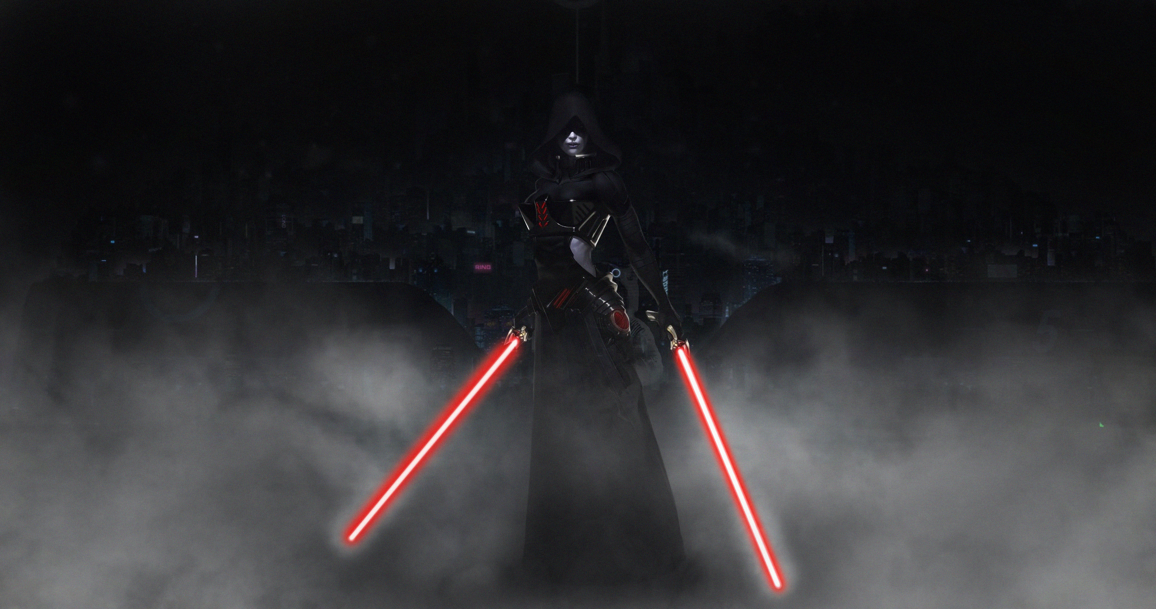Sith With Lightsaber Wallpaper Hd Artist 4k Wallpapers