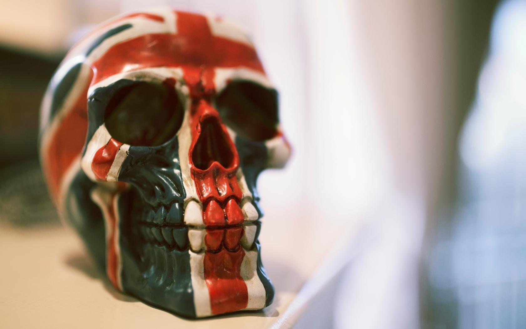 Skull paint flag hd 4k wallpaper - Skull 4k images ...