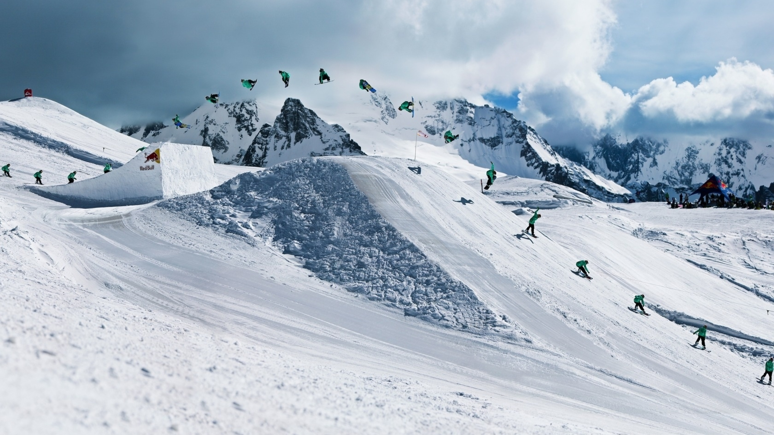 2560x1440 Snowboarding Red Bull Trick 1440p Resolution