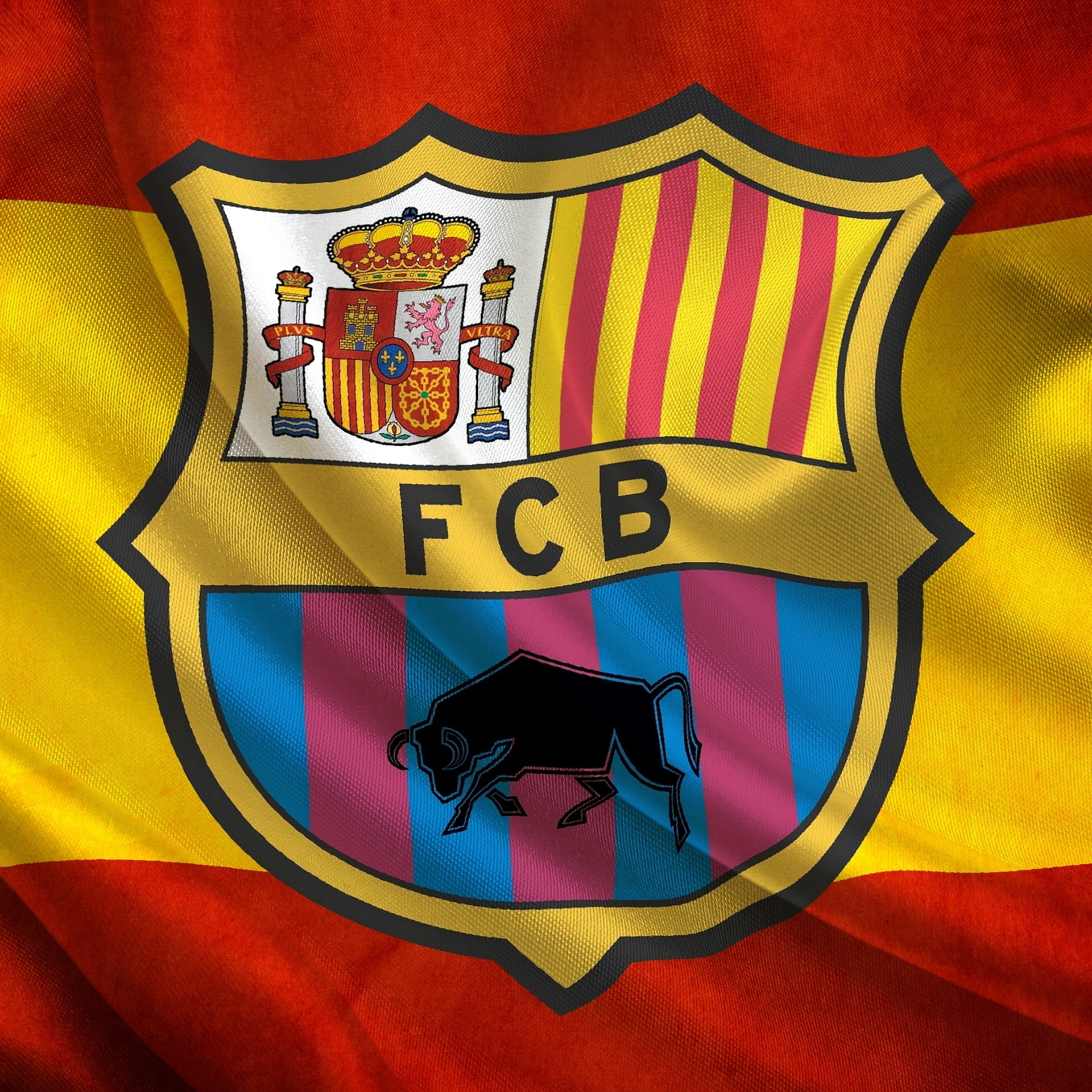 Soccer, Flag, Fc Barcelona, HD 4K Wallpaper