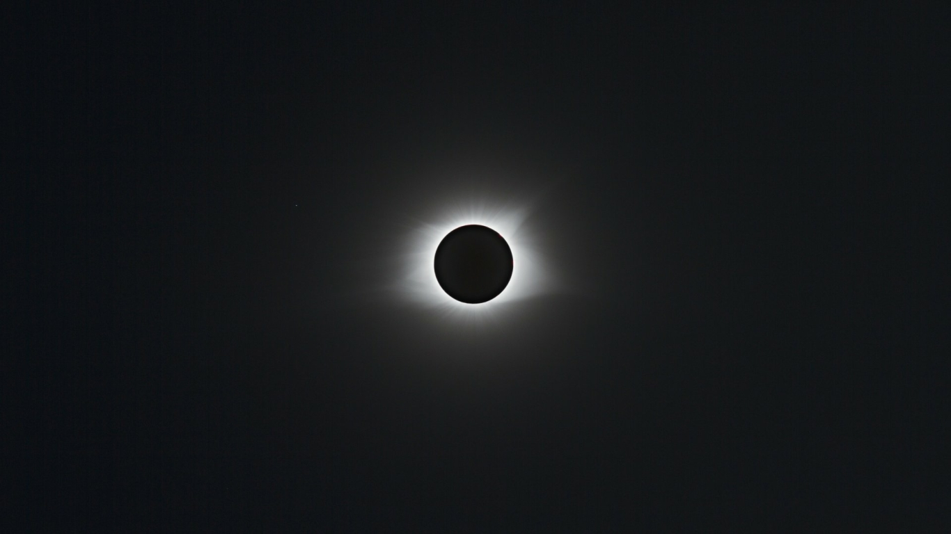 1366x768 Solar Eclipse Monochrome 1366x768 Resolution Wallpaper
