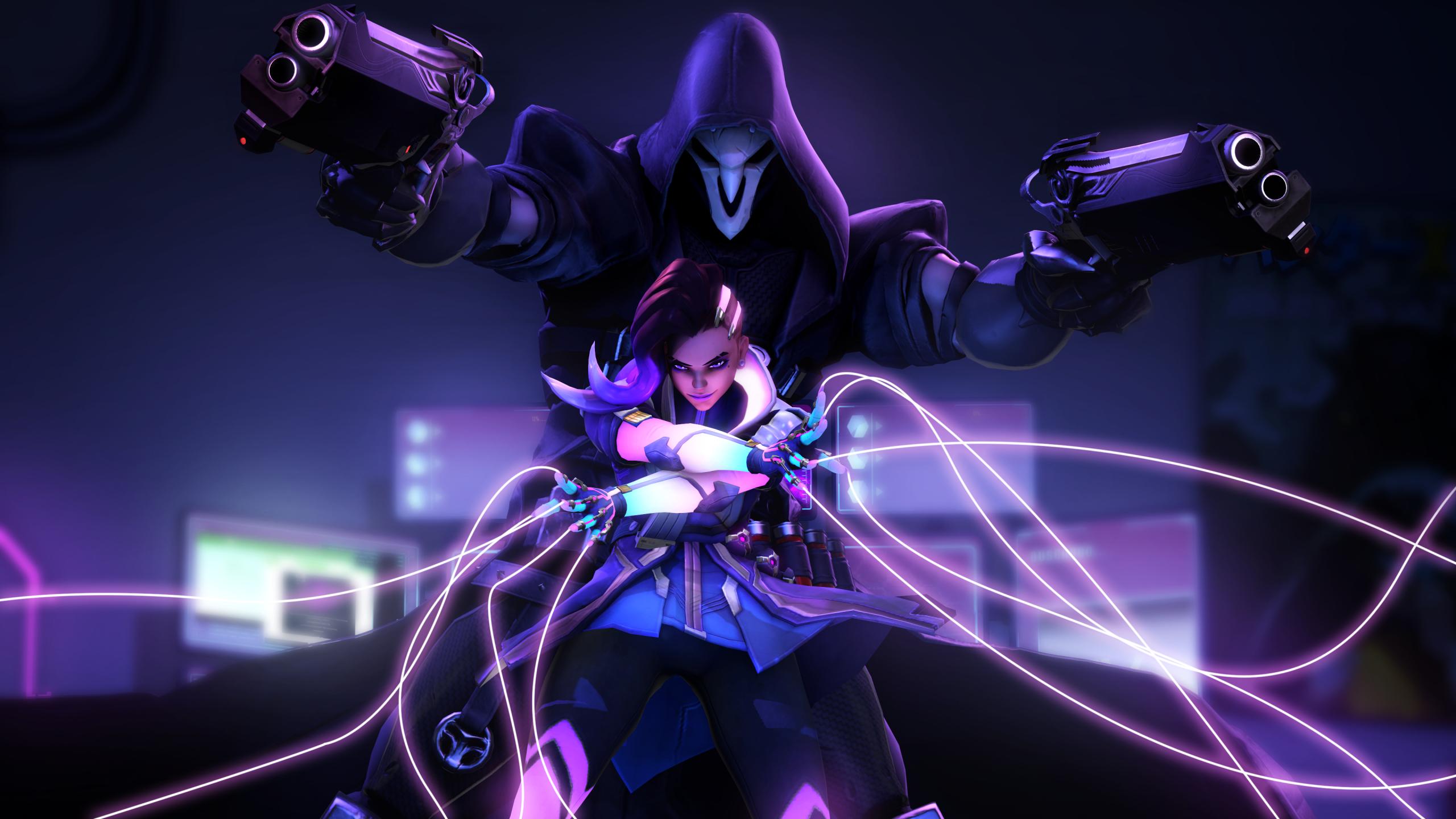 2560x1440 Sombra Reaper Overwatch 4k 1440P Resolution ...