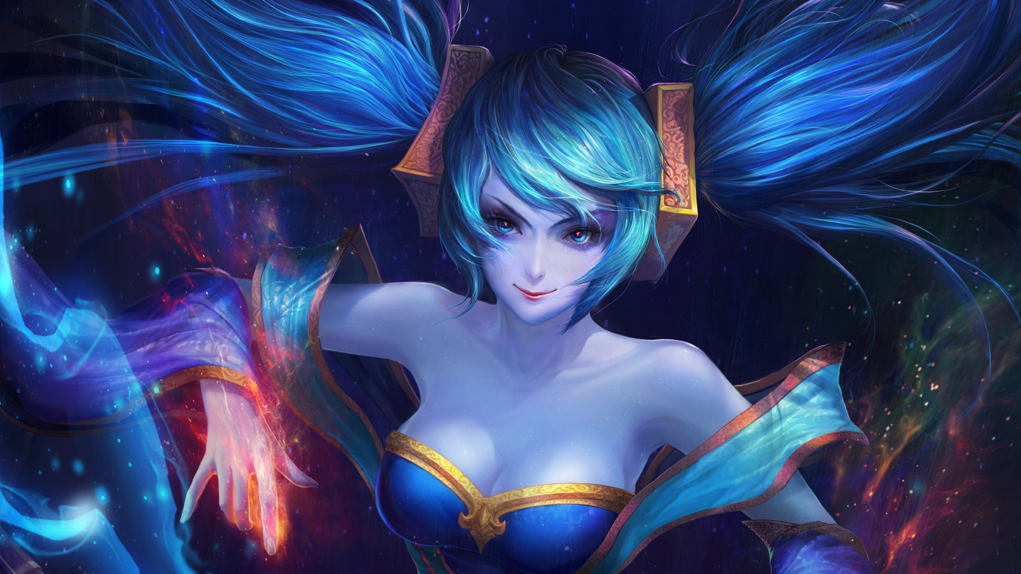 sona league of legends hd 4k wallpaper