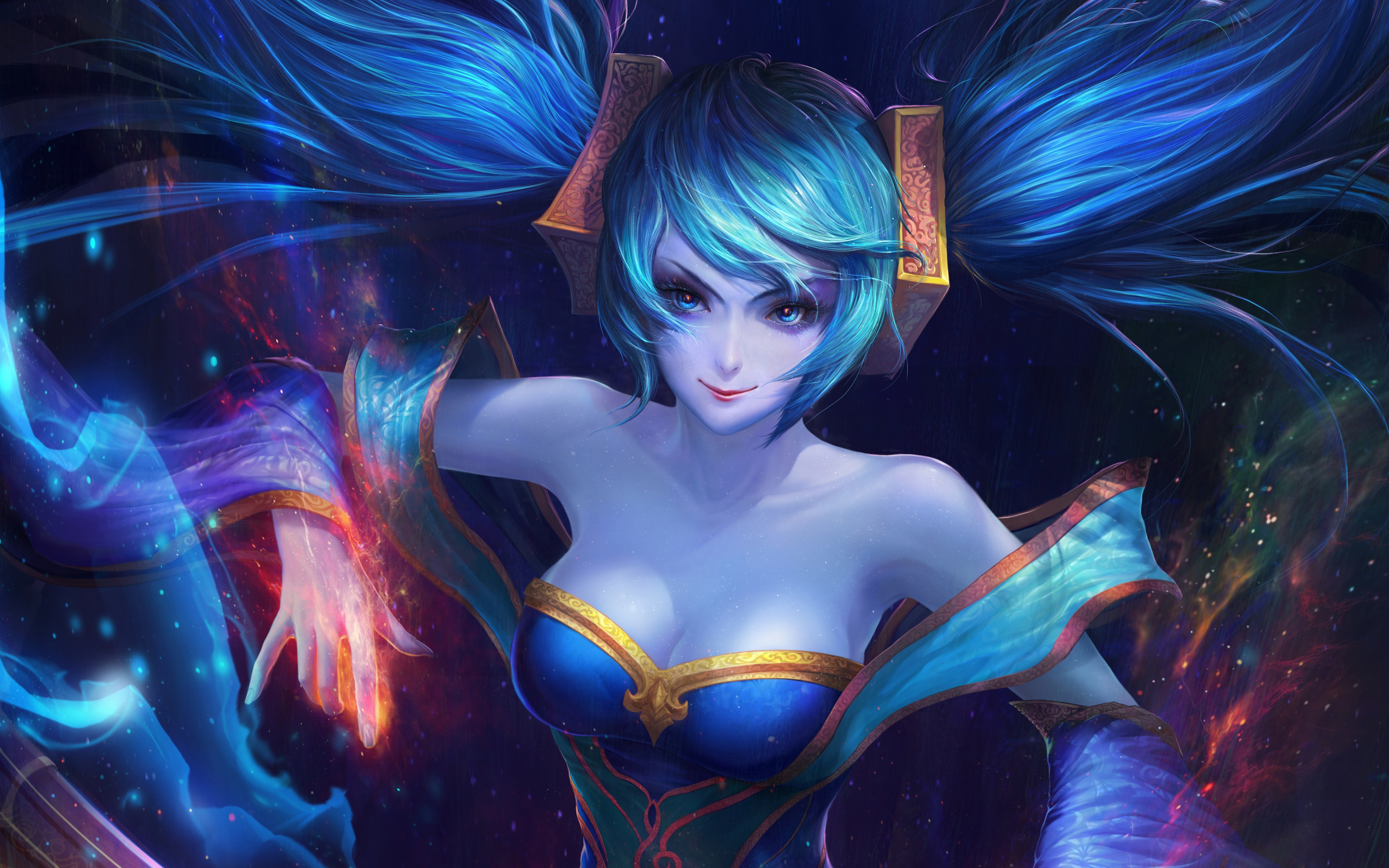 Dual Monitor Wallpaper League Of Legends: Sona League Of Legends, HD 4K Wallpaper