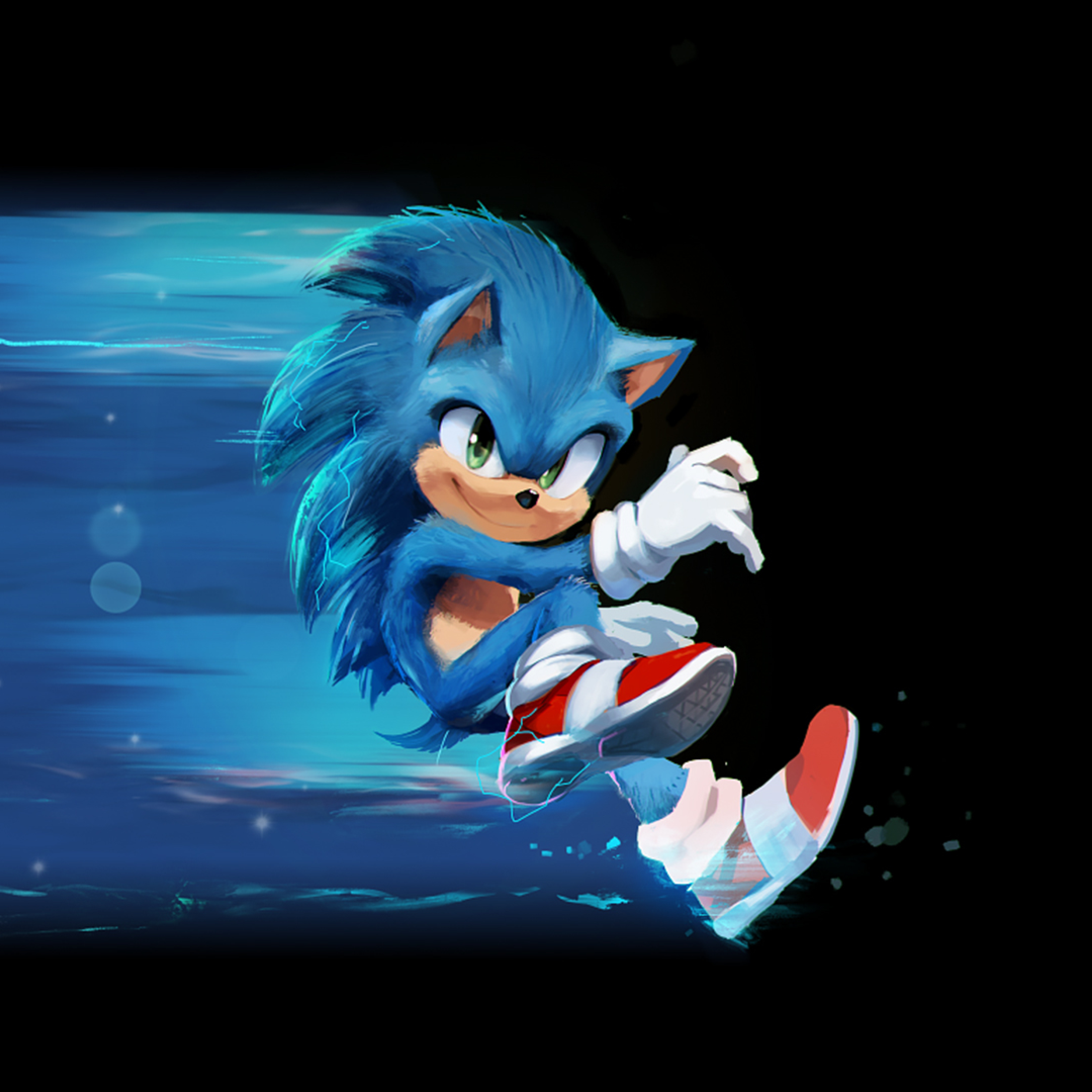 2932x2932 Sonic The Hedgehog Artwork Ipad Pro Retina Display Wallpaper Hd Movies 4k Wallpapers Images Photos And Background