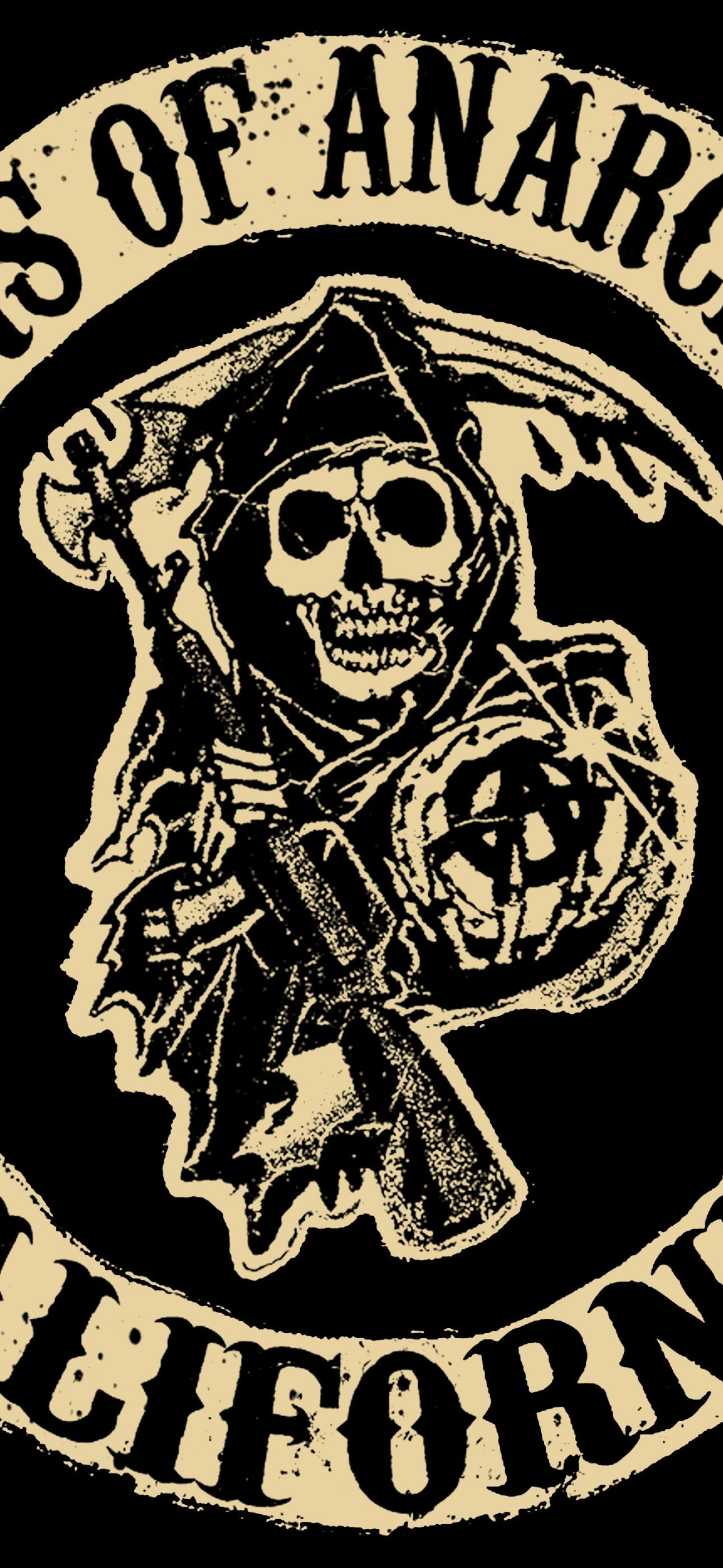 1440x3120 Sons Of Anarchy Tv Series Logo 1440x3120 Resolution