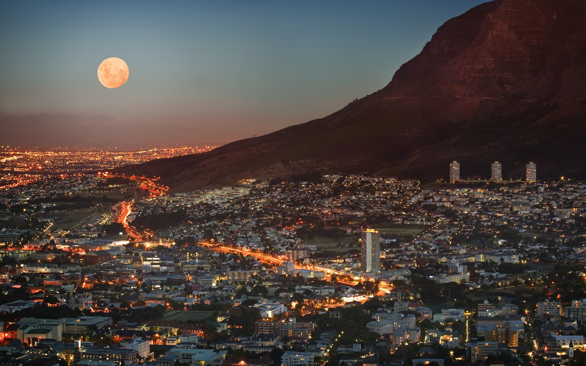 South Africa Cape Town Metropolis Wallpaper Hd City 4k