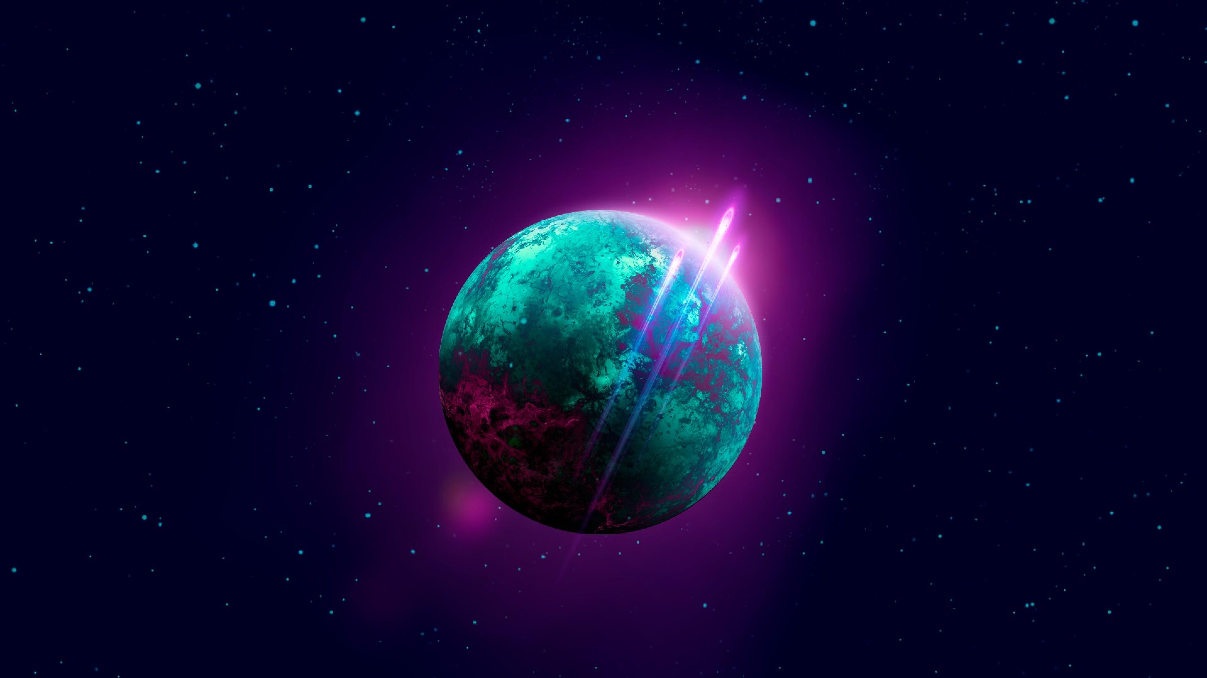 3840x2160 Space Retro-wave Planet 4K Wallpaper, HD Space ...