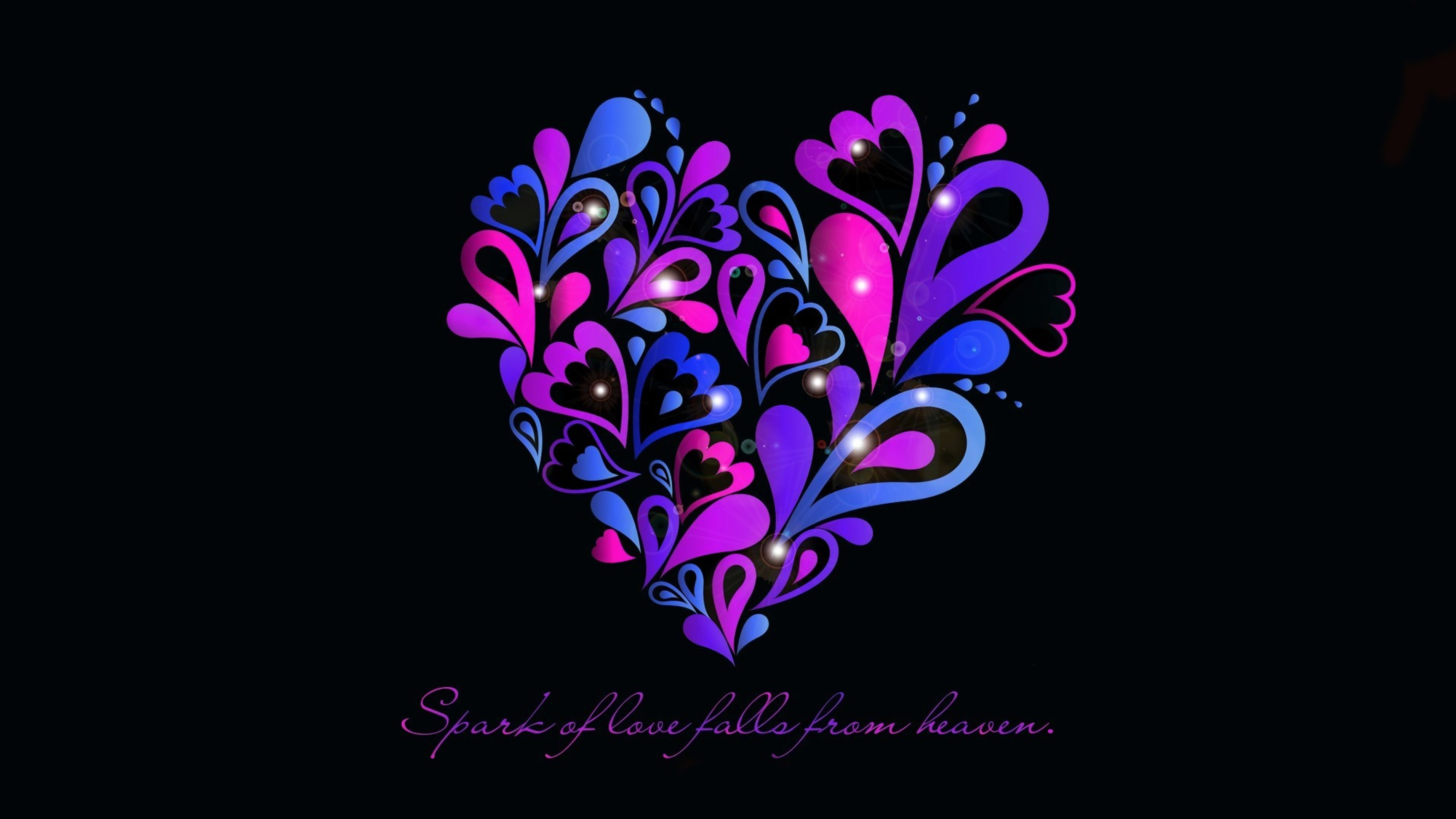 Top 25 Samsung Galaxy S4 Screen Saver Wallpapers: Spark Of Love Follow From Heaven, Full HD Wallpaper