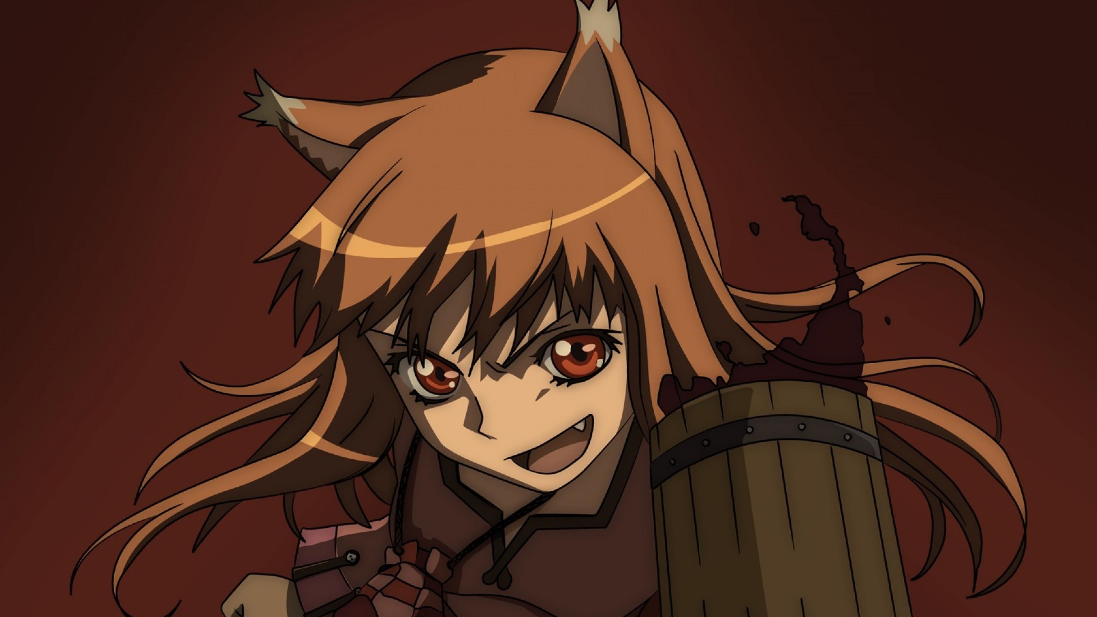 3840x2160 Spice And Wolf Girl Fox 4k Wallpaper Hd Anime 4k