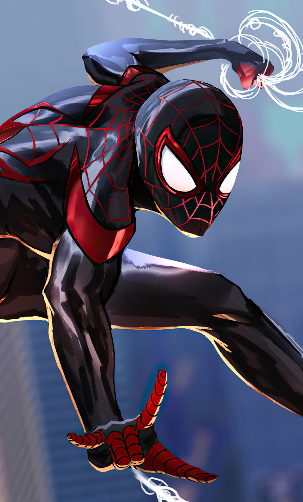 1280x2120 Spider-Man 2 Into The Spider-Verse Art iPhone 6 ...
