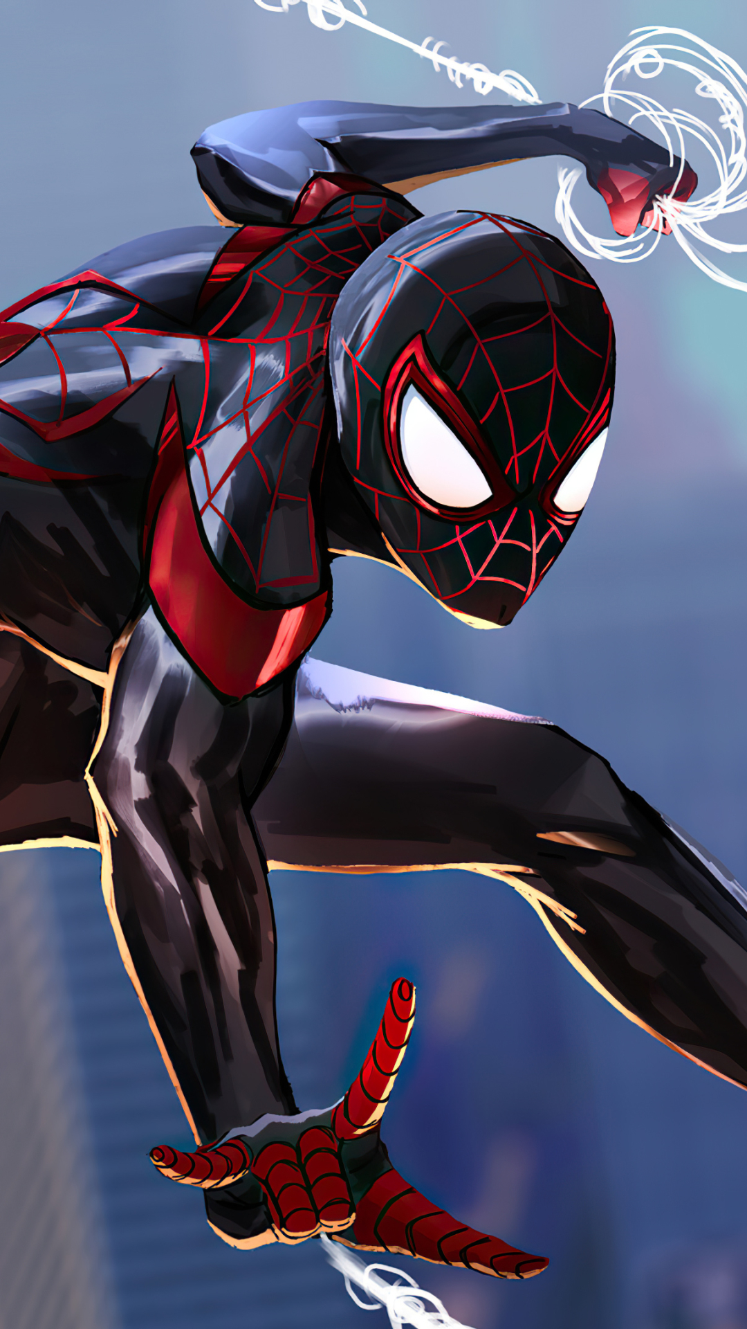 1080x1920 Spider-Man 2 Into The Spider-Verse Art Iphone 7 ...