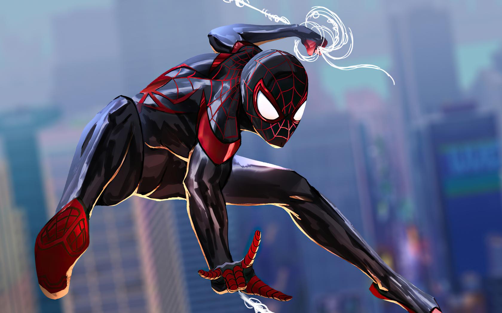 1680x1050 Spider-Man 2 Into The Spider-Verse Art 1680x1050 ...