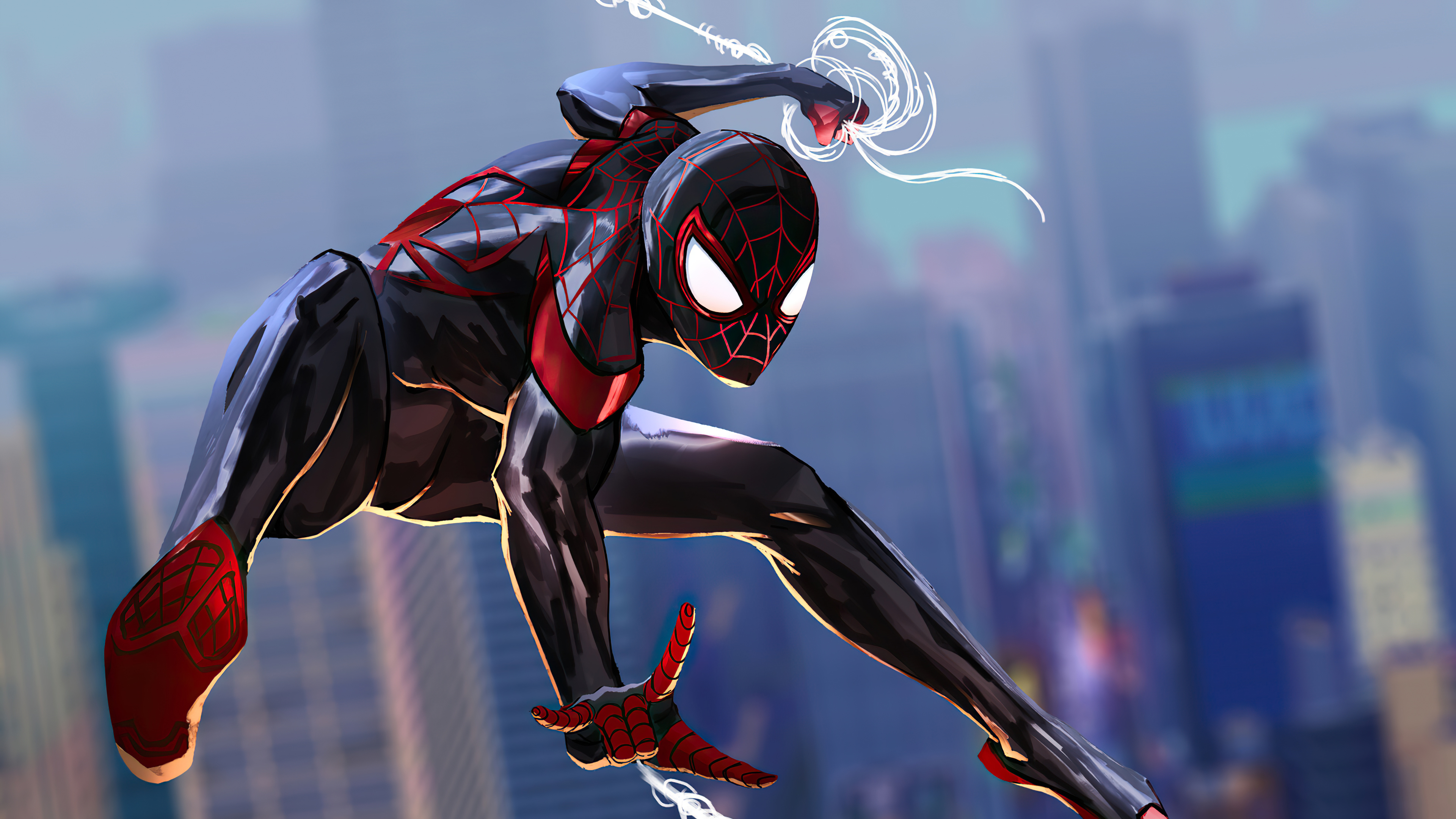 Spider-Man 2 Into The Spider-Verse Art Wallpaper, HD ...