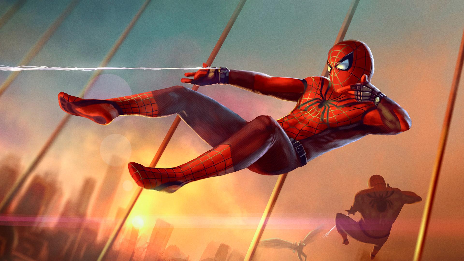 10 Best Spider Man 2099 Wallpaper Hd Full Hd 1920 1080 For: Spider Man Artwork, Full HD Wallpaper