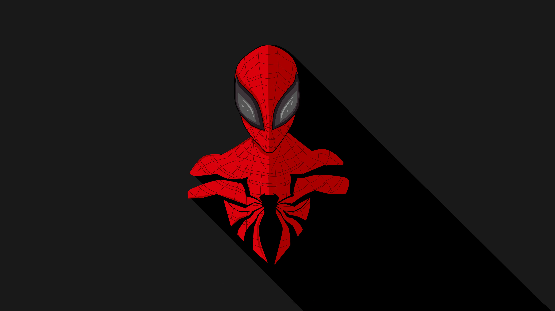 Spider Man Dark Minimal Avengers Wallpaper Hd Minimalist 4k