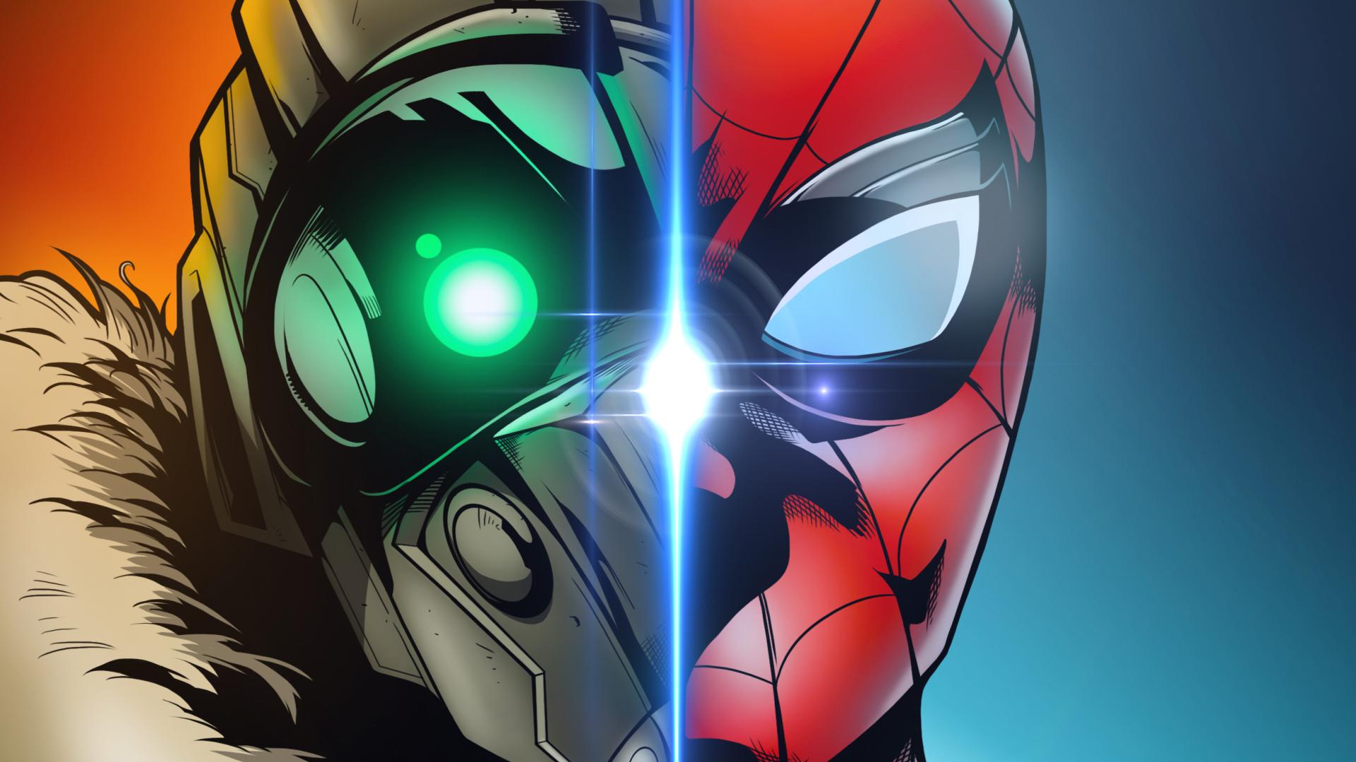 Spider Man Homecoming Art Full Hd 2k Wallpaper