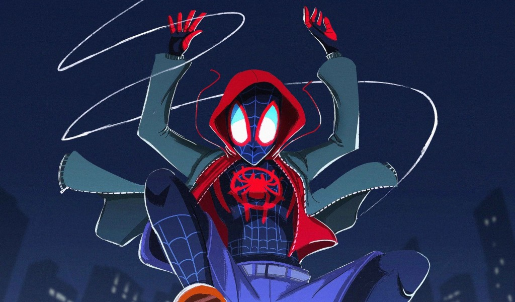 Download Spiderman Into The Spiderverse 2018 Fanart 2048x1152 Resolution, Full HD Wallpaper