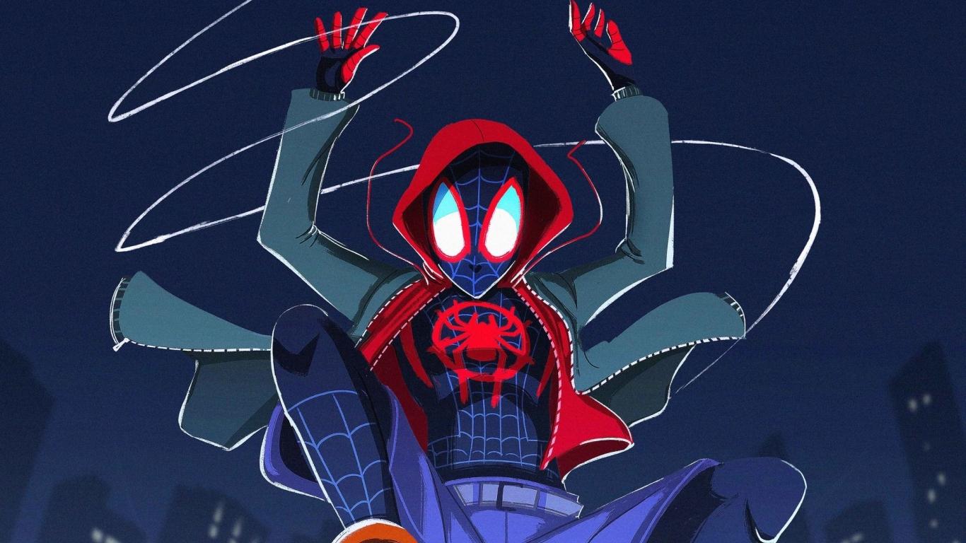 1366x768 Spider-Man Into The Spider-Verse 2018 FanArt ...