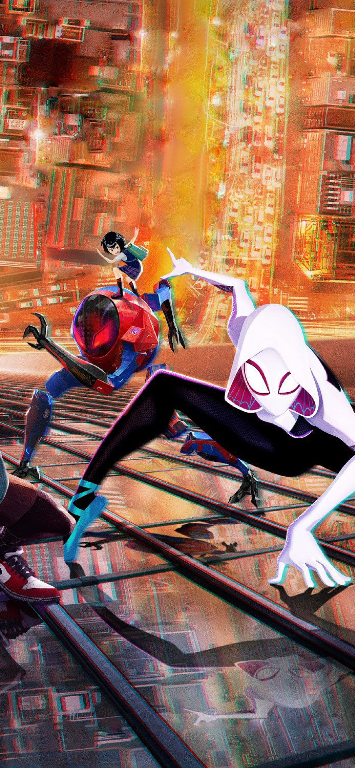 1242x2688 Spider-Man Into The Spider-Verse 2018 Movie ...