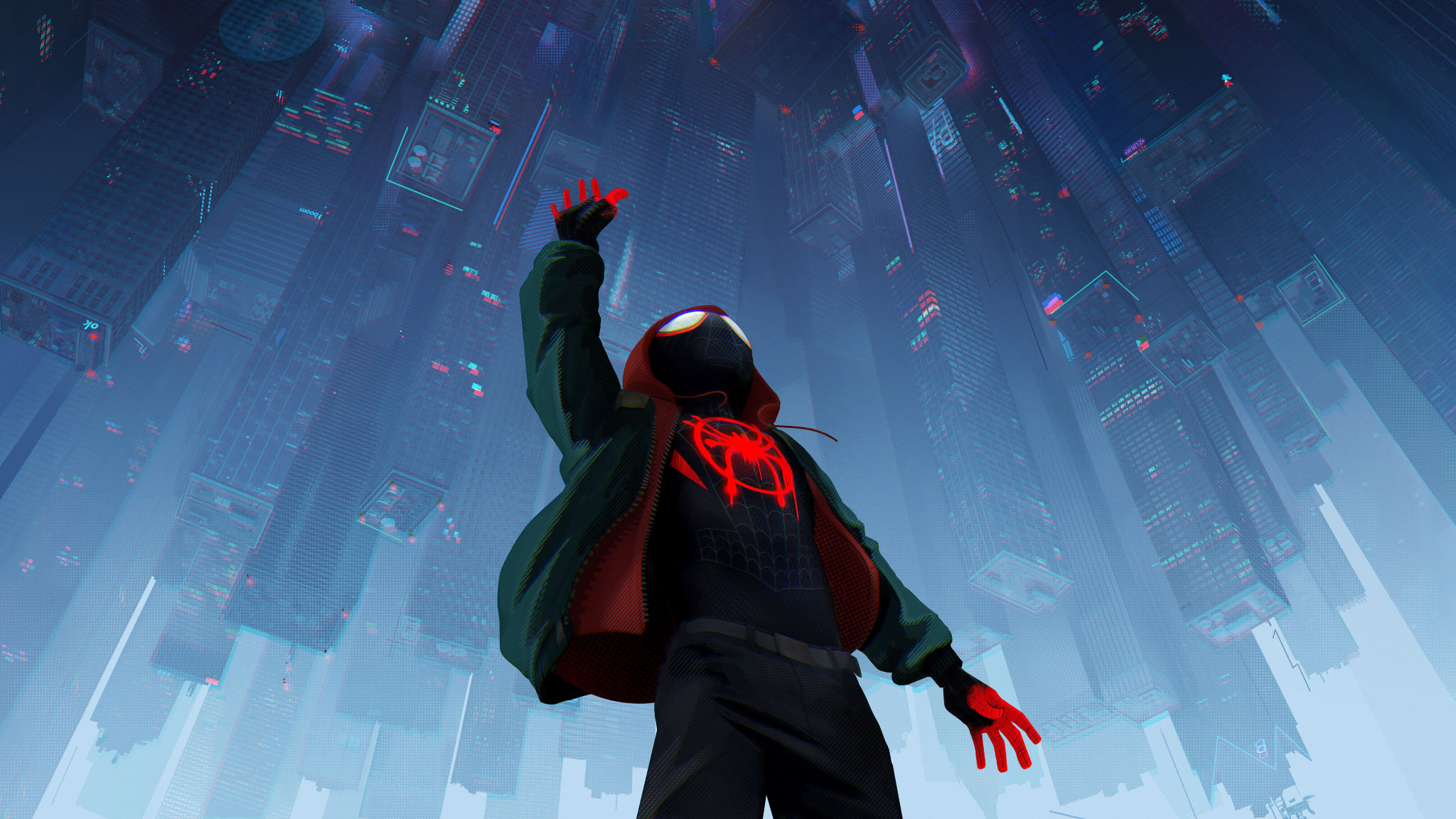 Spiderman Into The Spiderverse 2018 Official Poster, HD 8K Wallpaper