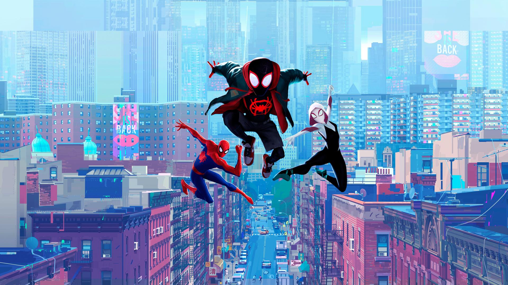 1920x1080 Spider Man Into The Spider Verse 2019 1080p Laptop