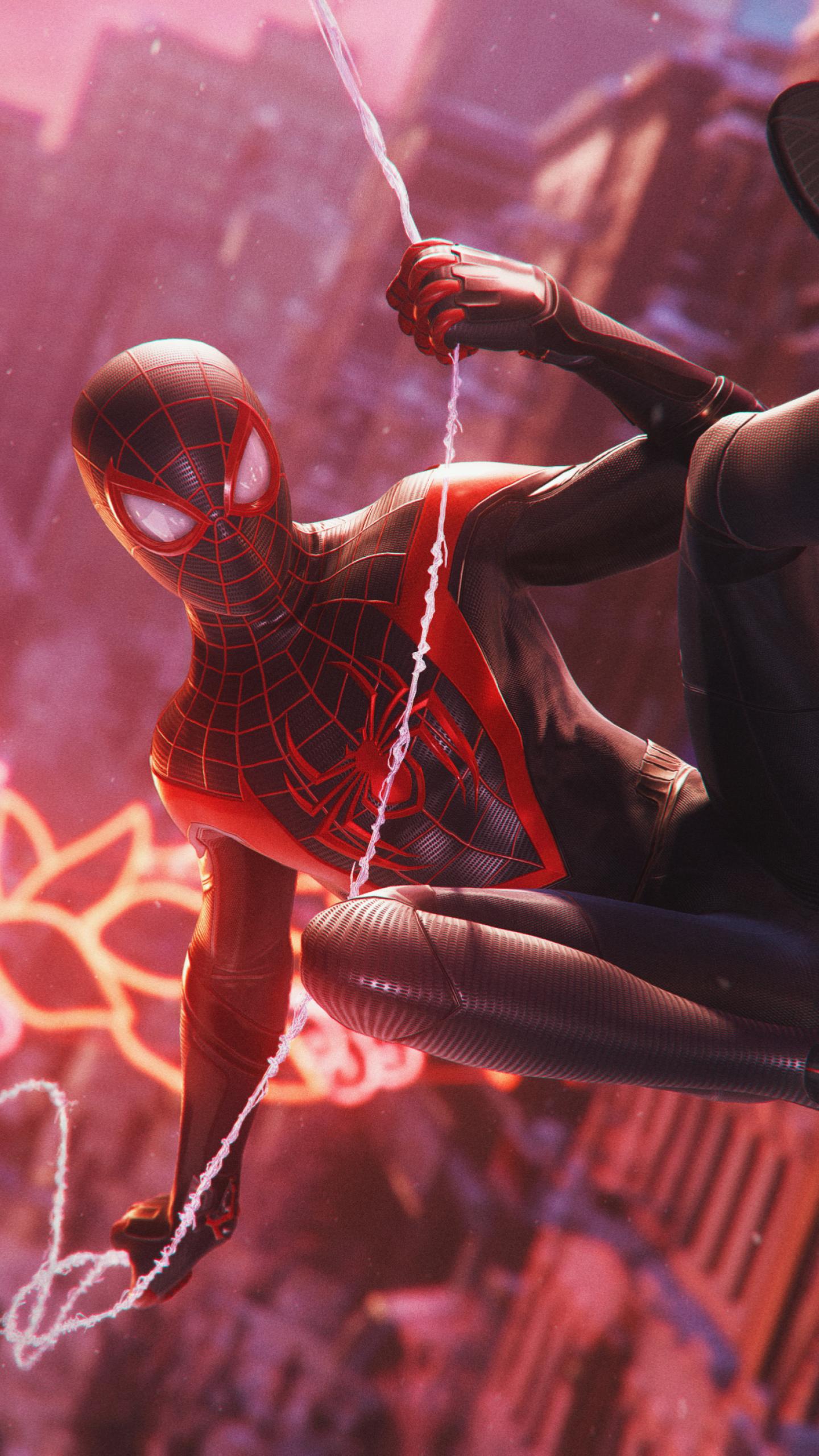 1440x2560 Spider-Man Miles Morales 4K Marvels Samsung ...