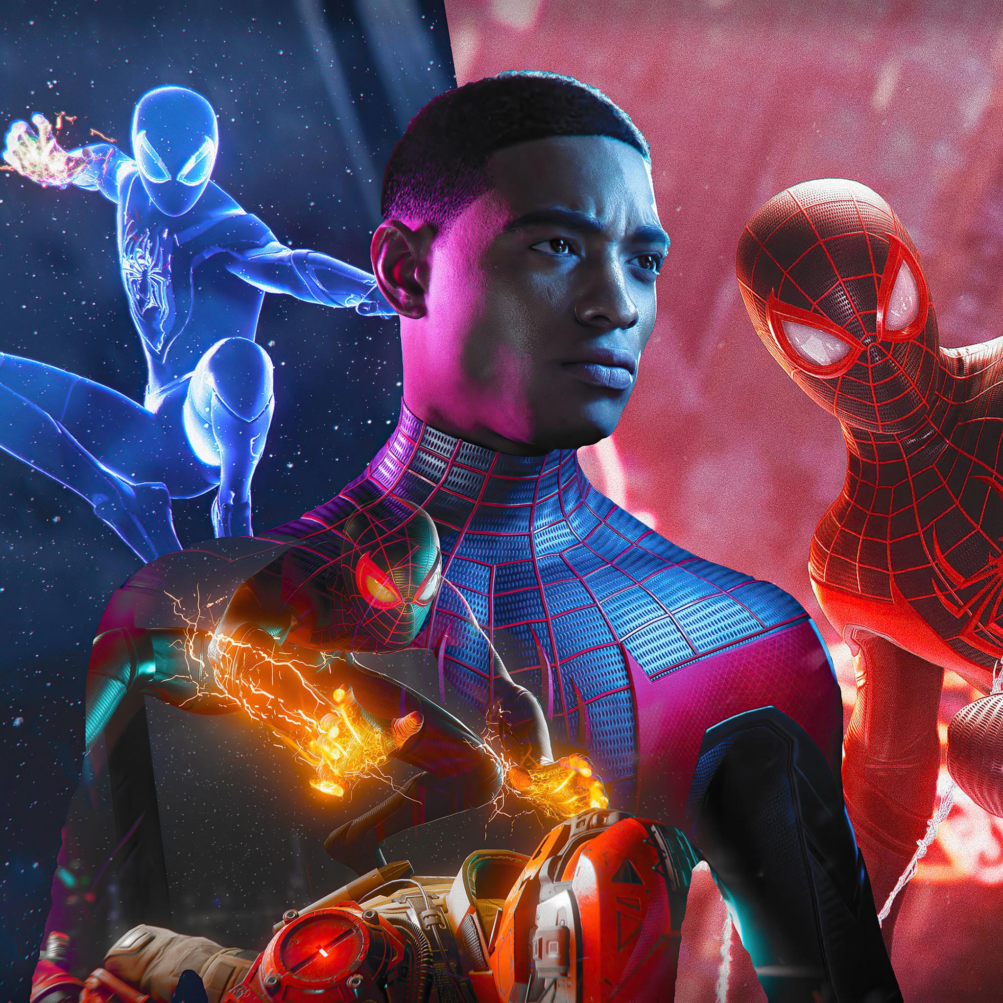 2048x2048 Spider-Man Miles Morales Marvel Art Ipad Air ...