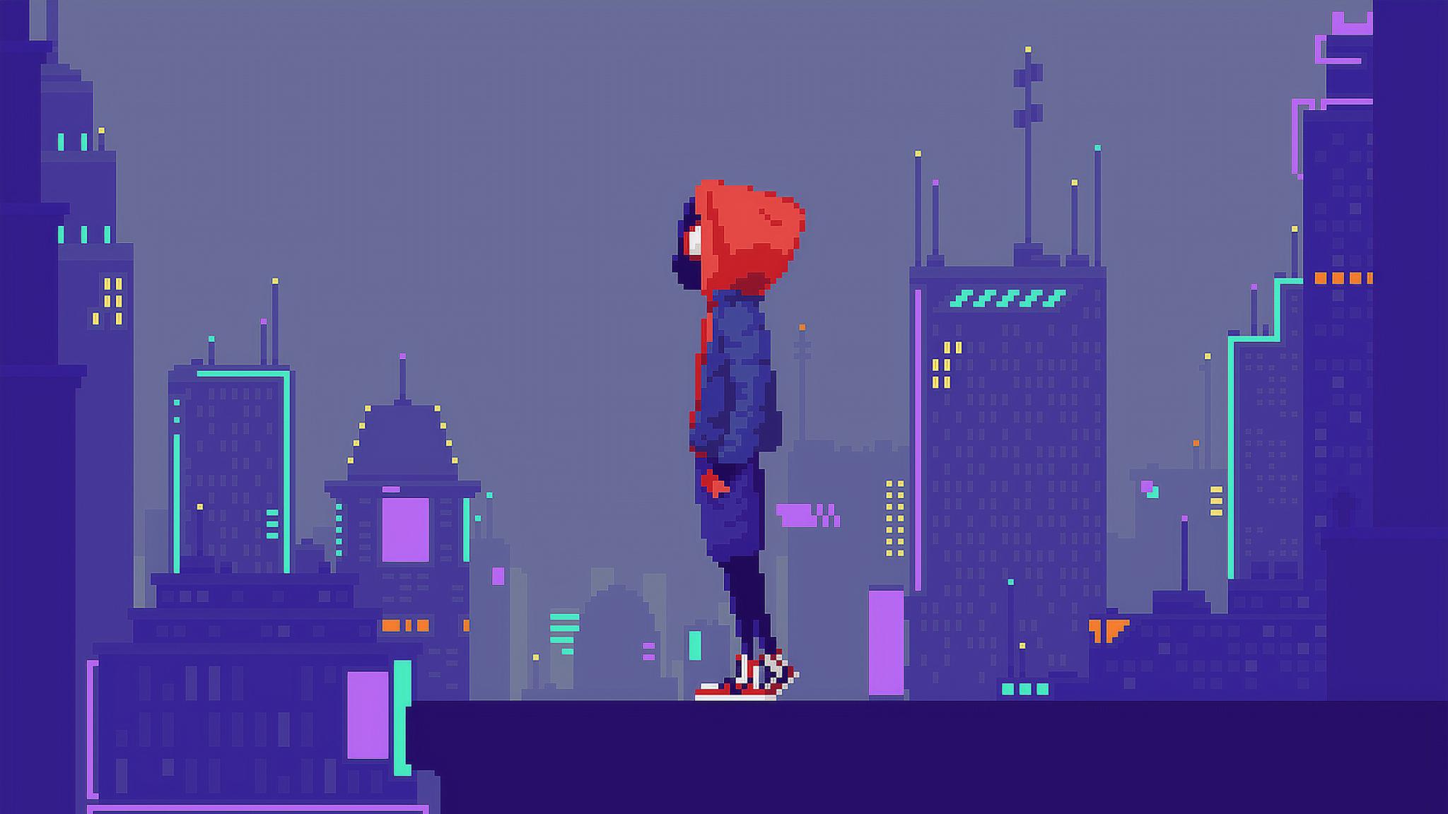 2048x1152 Spider Man Pixel Art 2048x1152 Resolution