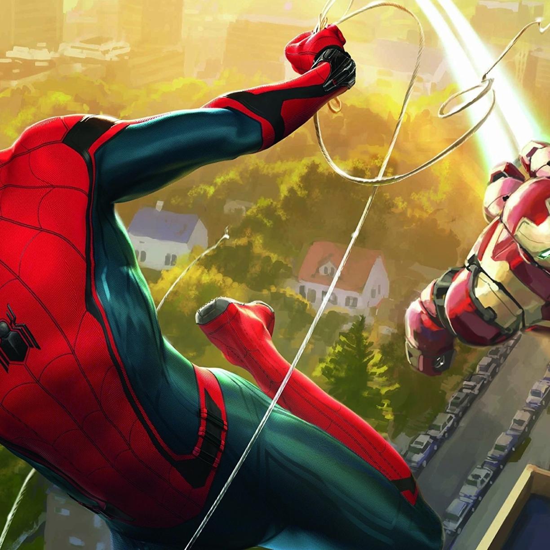 Spiderman and iron man artwork full hd 2k wallpaper - Spiderman and ironman wallpaper ...