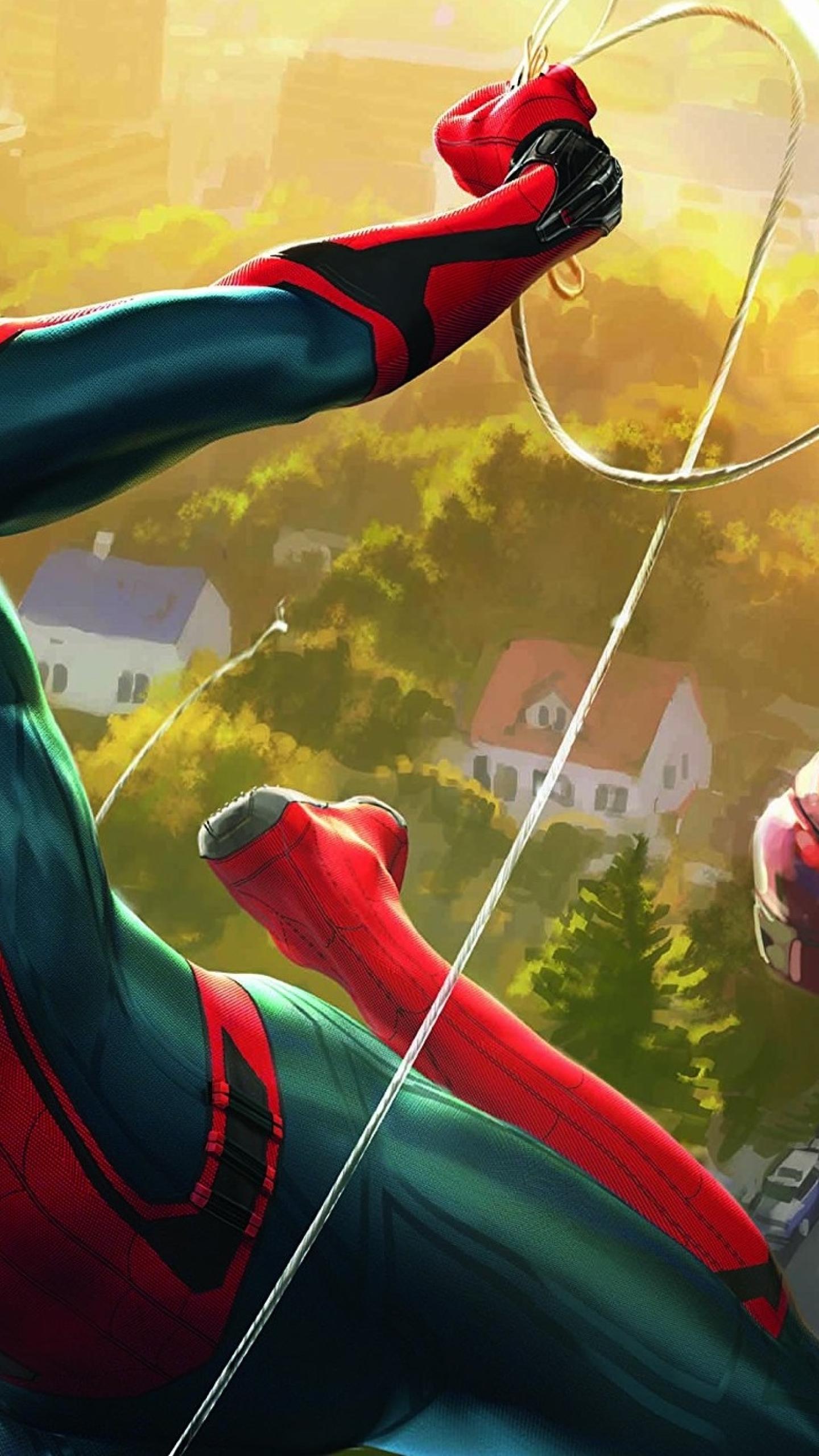 Spiderman And Iron Man Artwork Full Hd 2k Wallpaper