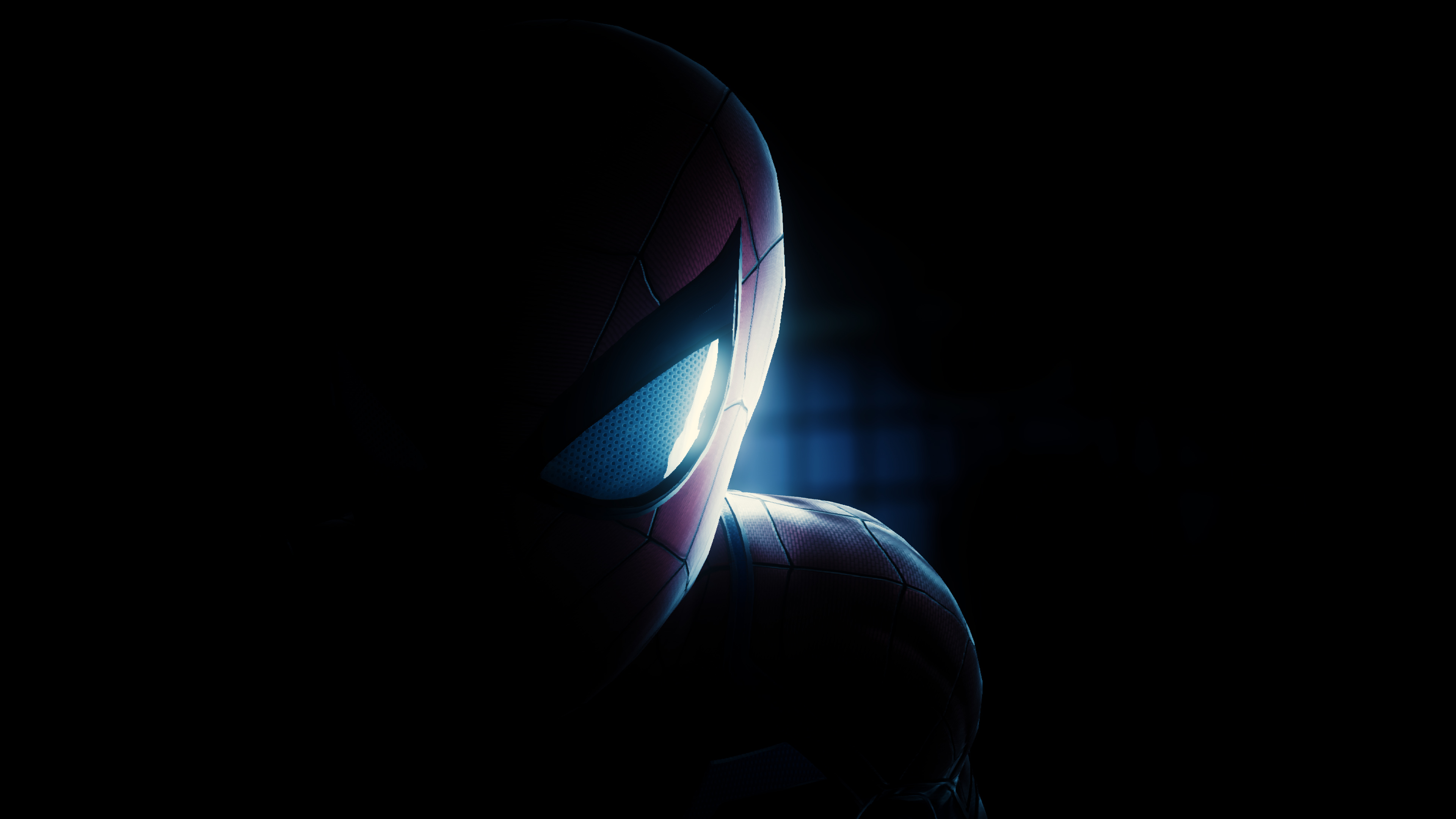 Spiderman Half Mask PS4 Wallpaper, HD