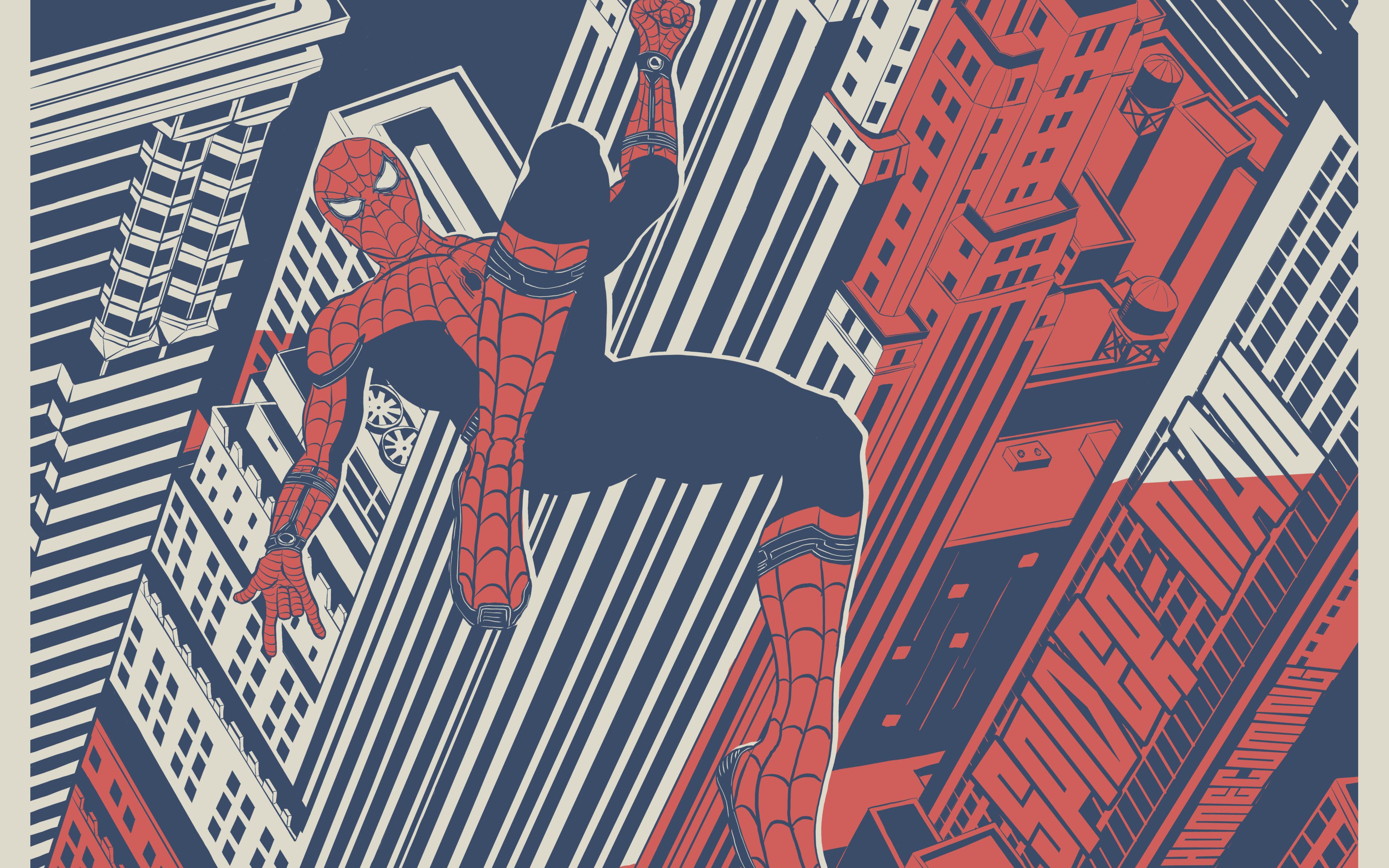 Wallpaper Homecoming: Spiderman Homecoming Artwork, HD 8K Wallpaper