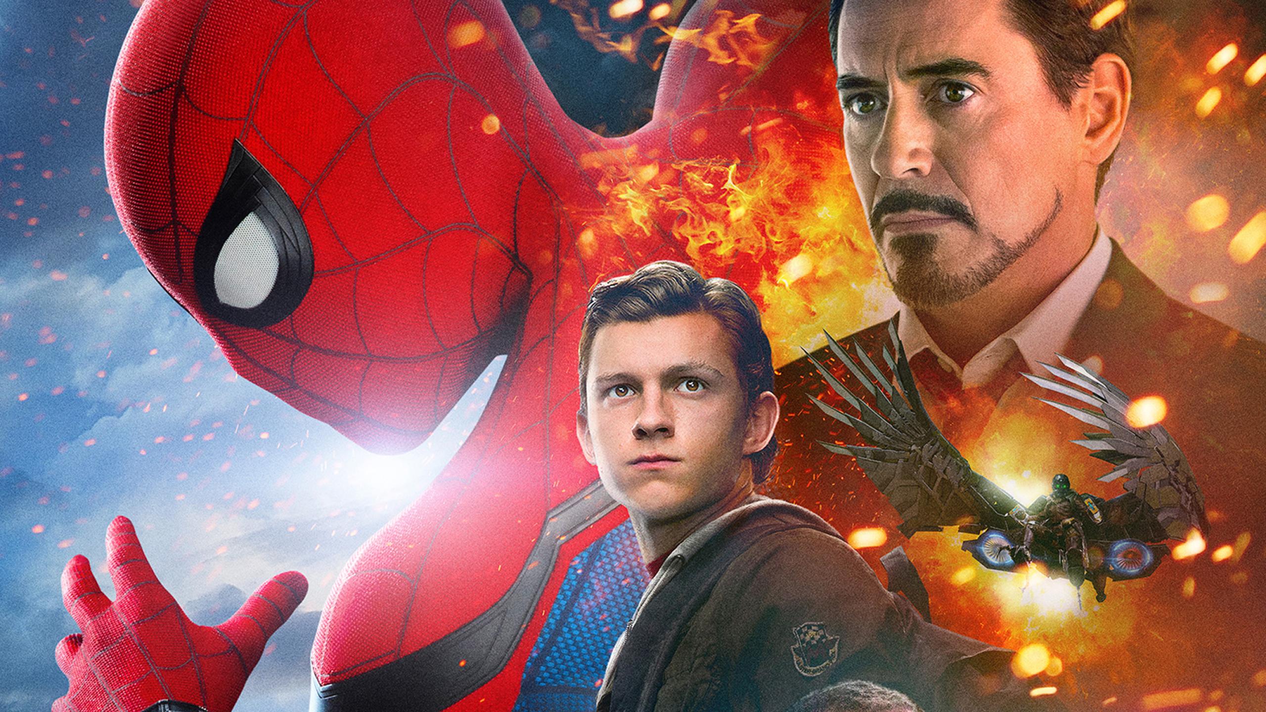 Spiderman homecoming iron man full hd 2k wallpaper - Iron man spiderman wallpaper ...