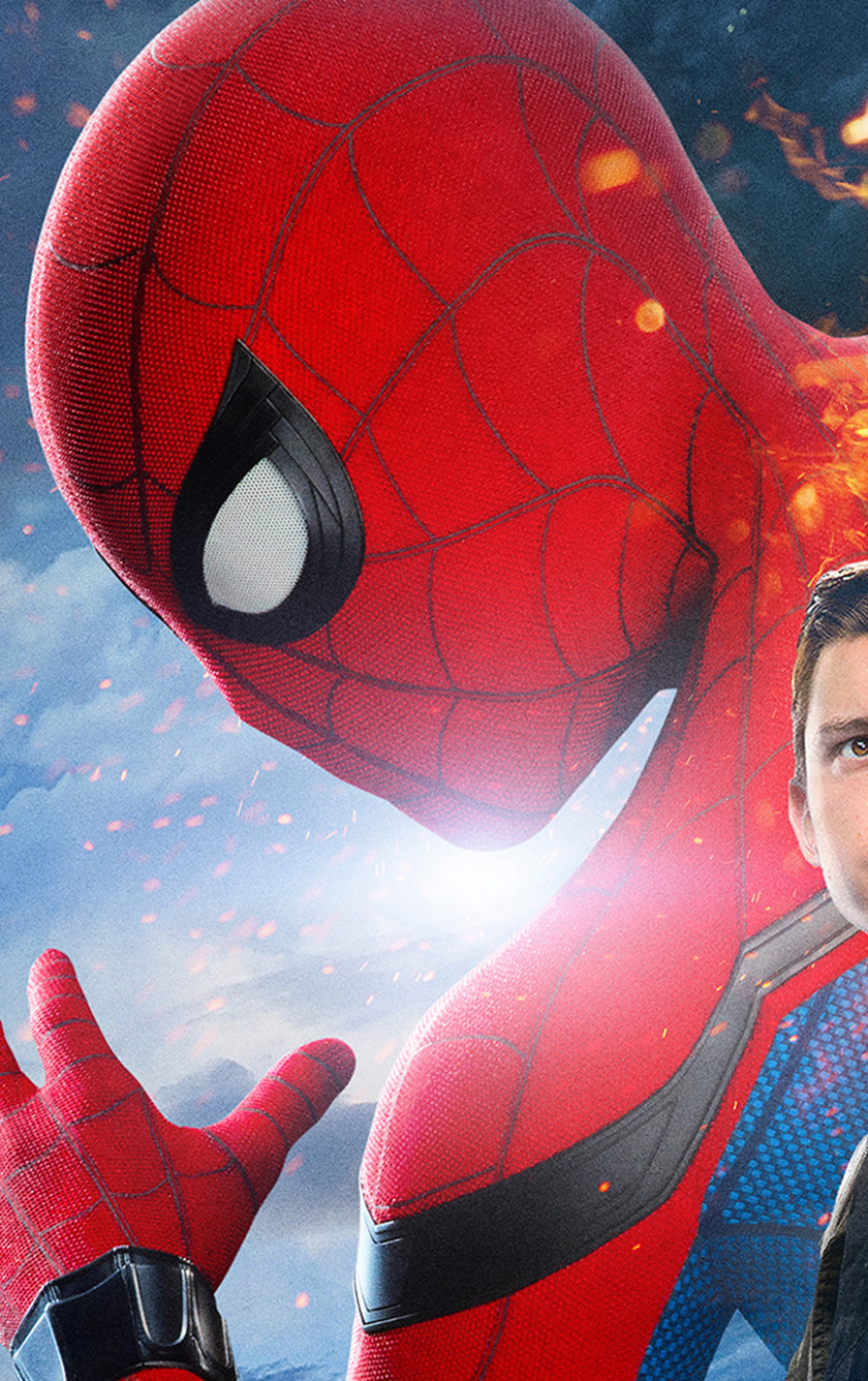 Spiderman Homecoming Iron Man Full Hd 2k Wallpaper