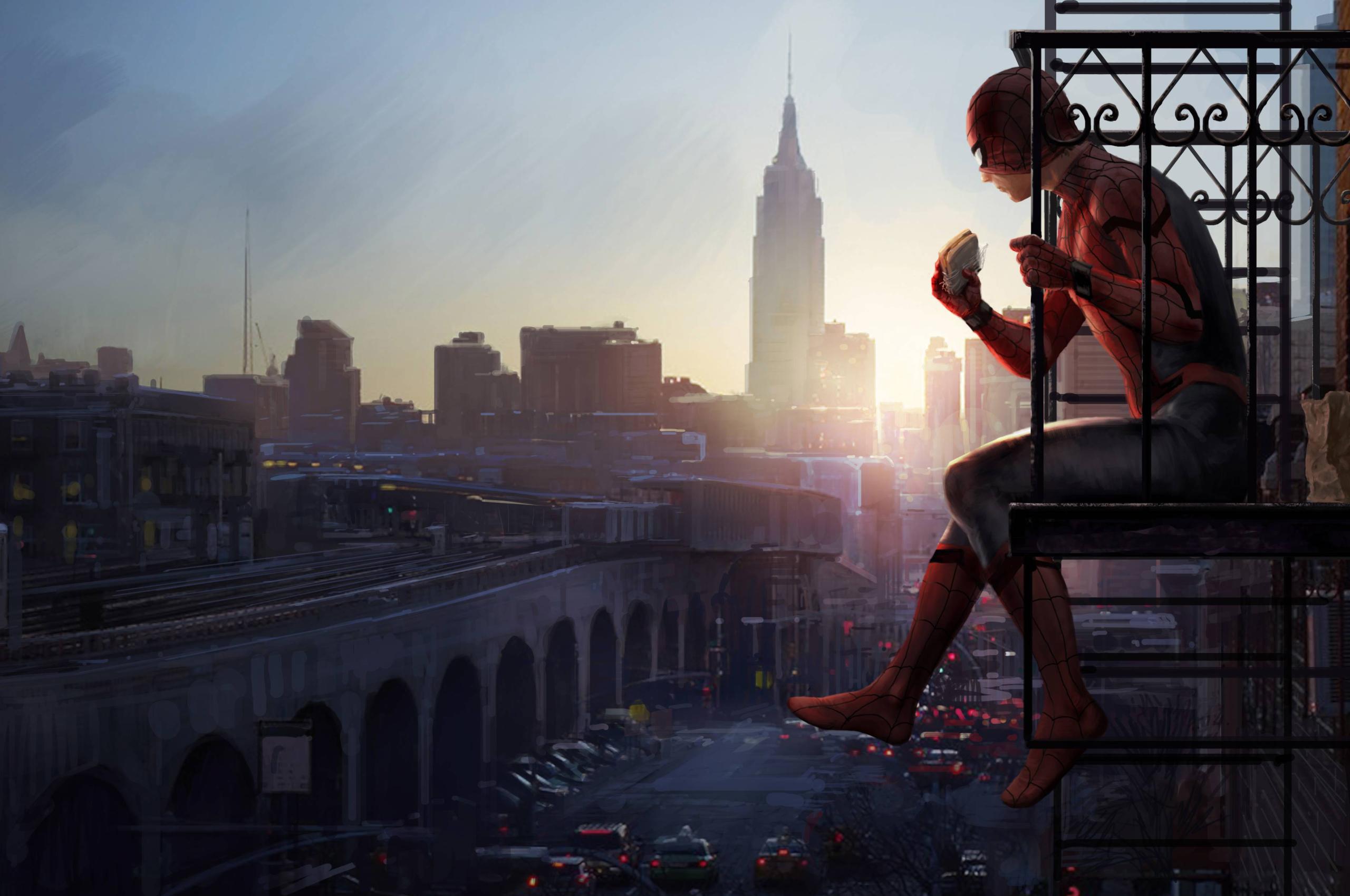2560x1700 Spiderman Homecoming Movie Spidy Artwork