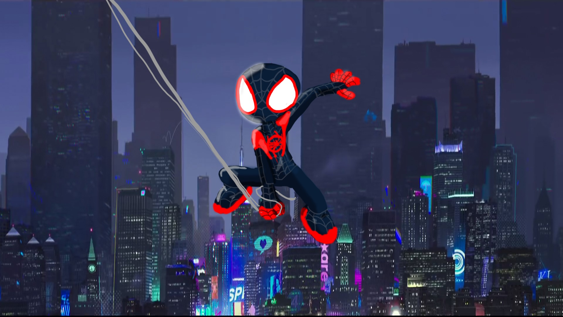 1360x768 Spiderman Into The Spider Verse Artwork Desktop Laptop Hd