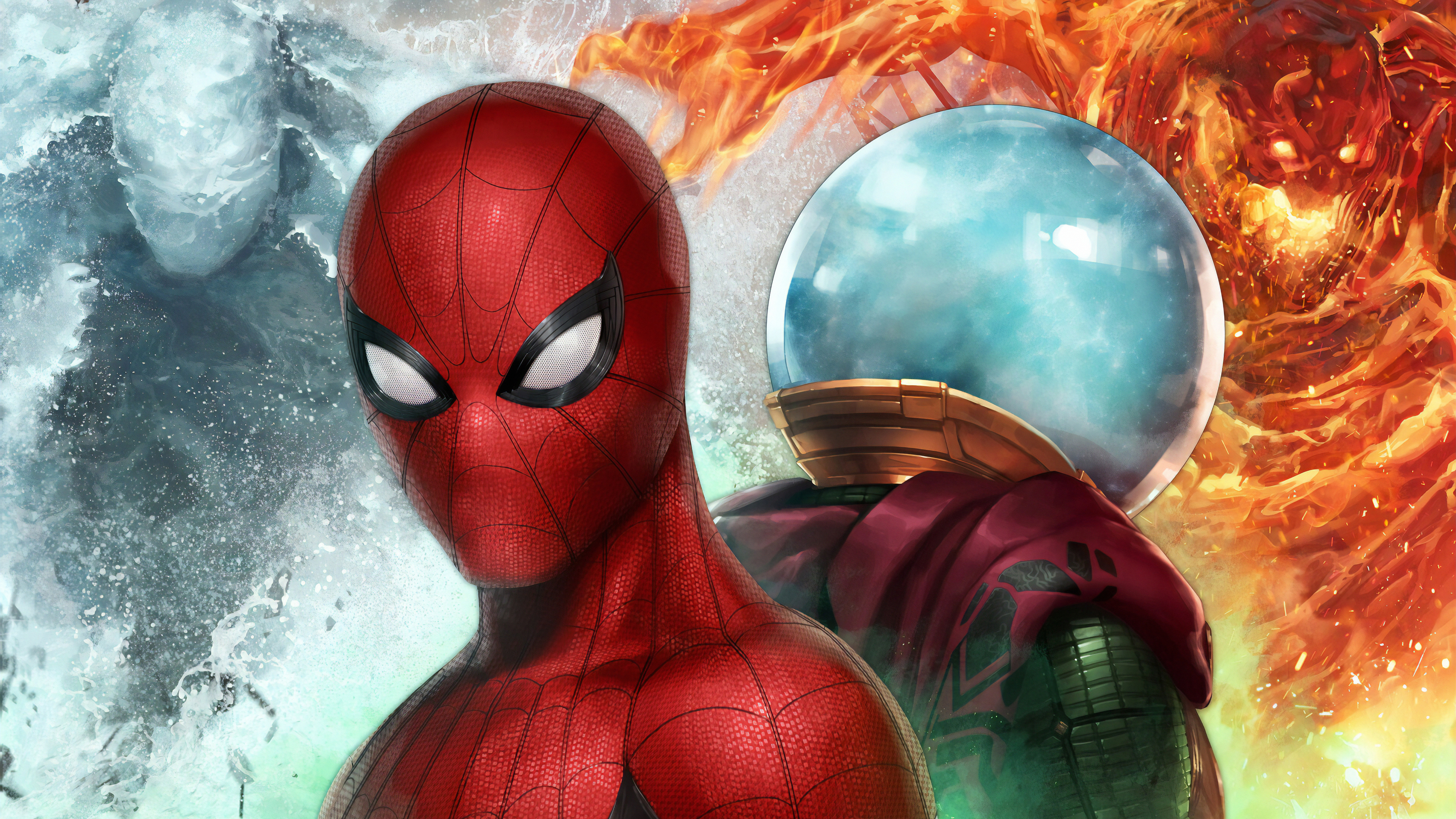 3840x2160 Spiderman Vs Mysterio In Marvel Future Fight 4k
