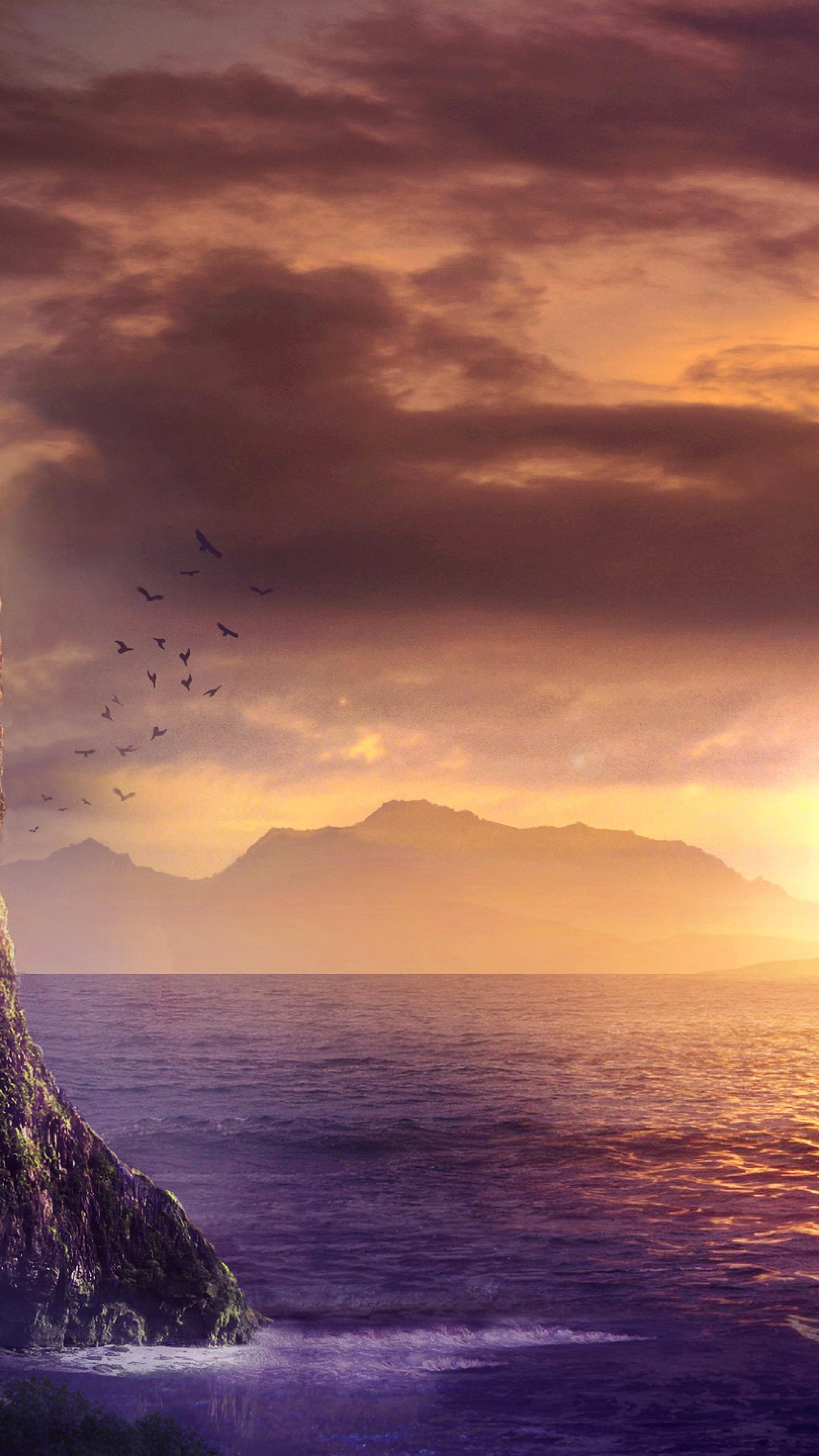 Download spiritual fantasy art sunrise 2160x3840 - Art wallpaper 2160x3840 ...