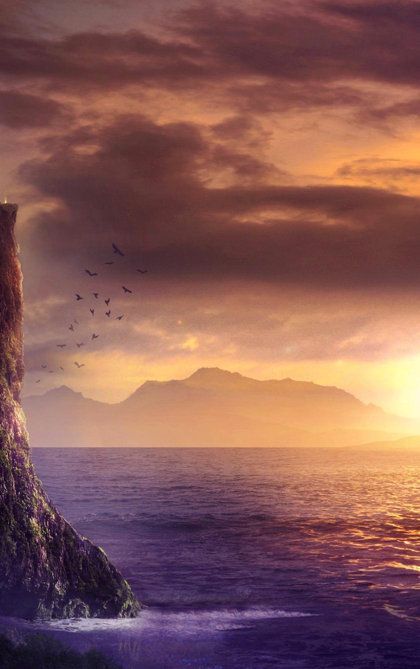 Spiritual fantasy art sunrise full hd 2k wallpaper - Meditation art wallpaper ...