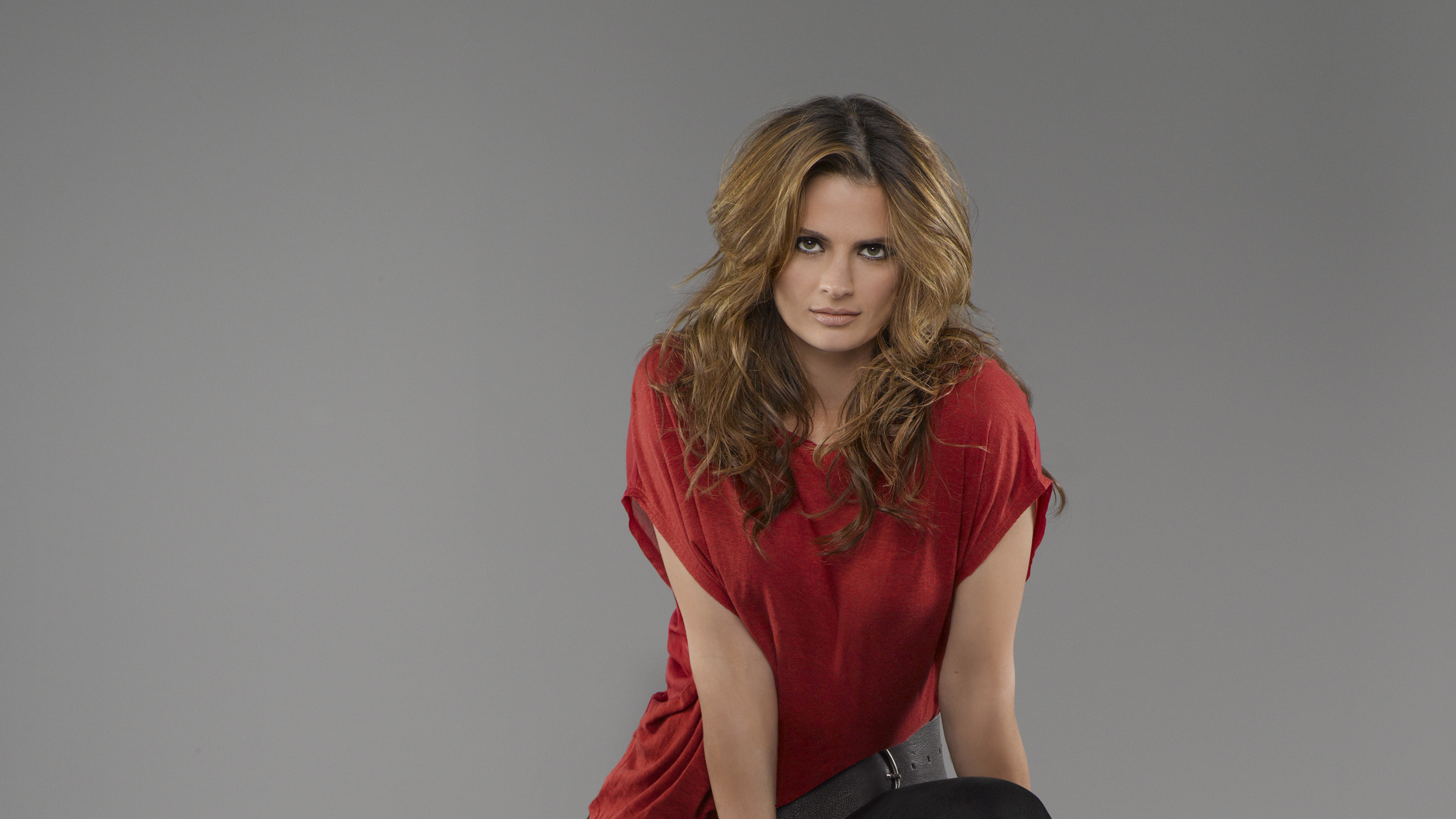 Stana Katic Castle Season 5 Photoshoot, Full HD 2K Wallpaper