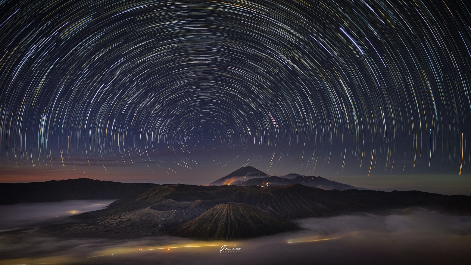 Star Trail In The Night Sky Wallpaper Hd Nature 4k