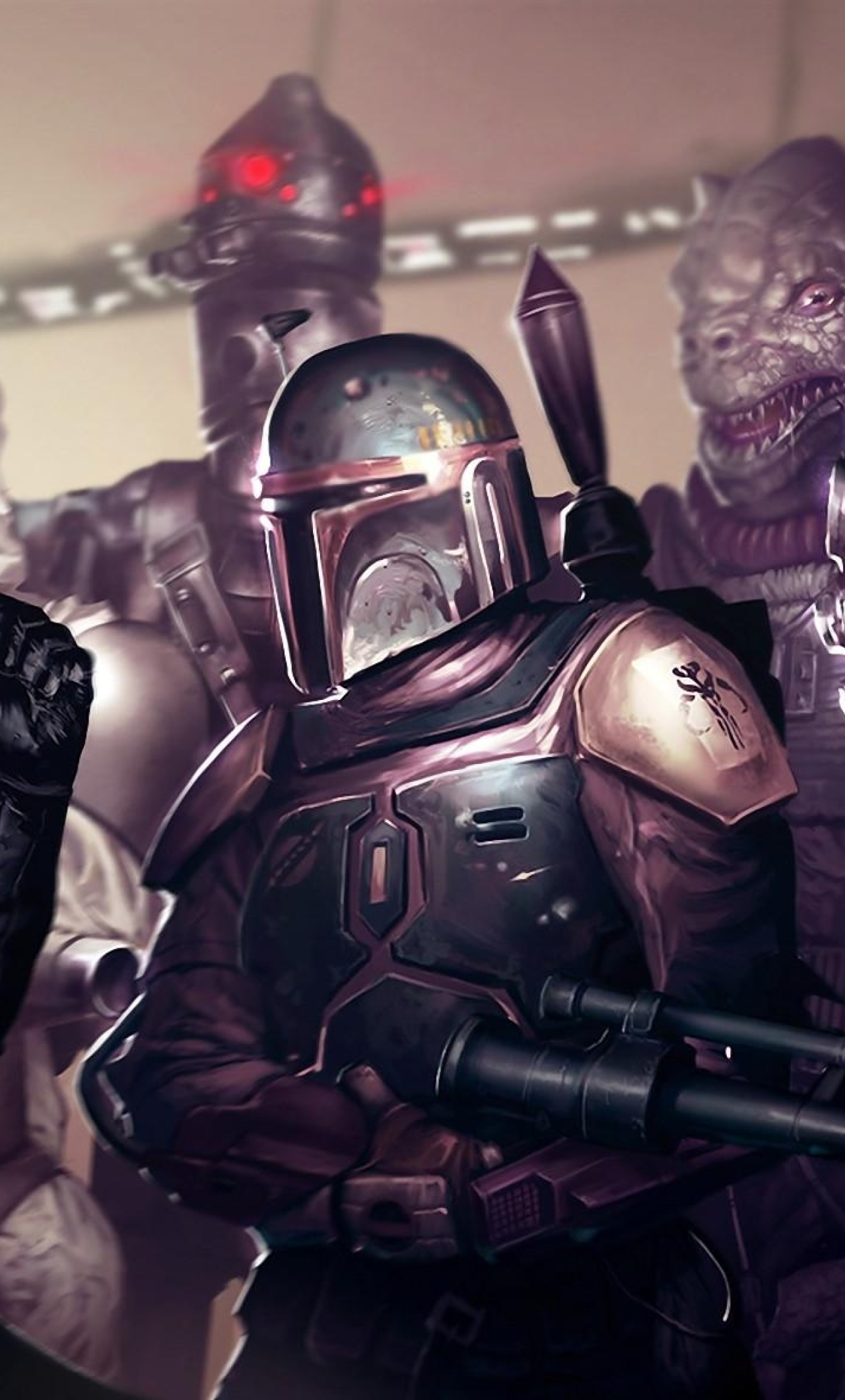 Star Wars Darth Vader Boba Fett Full HD Wallpaper