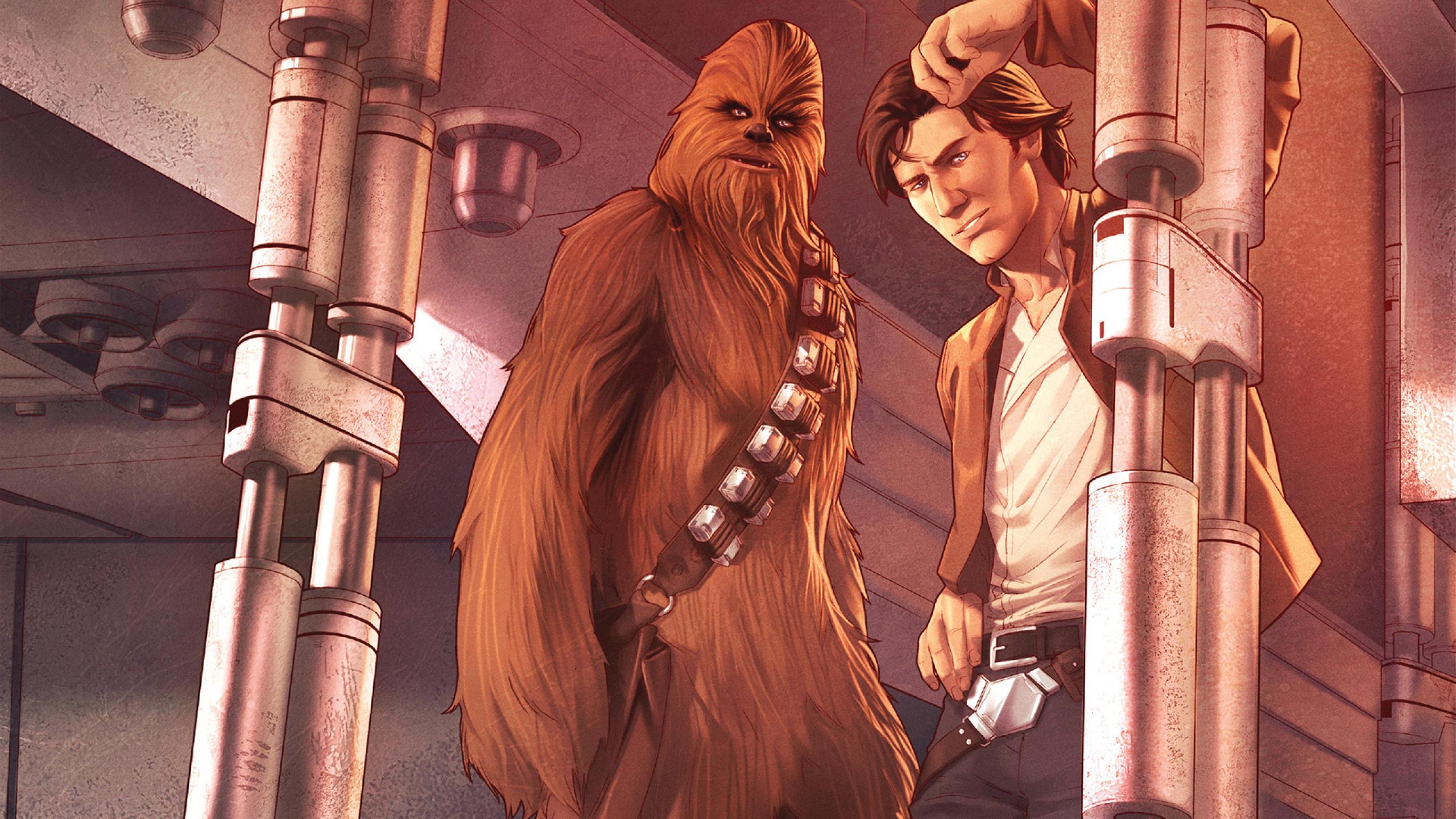 Star Wars Han Solo And Chewbacca Full Hd Wallpaper