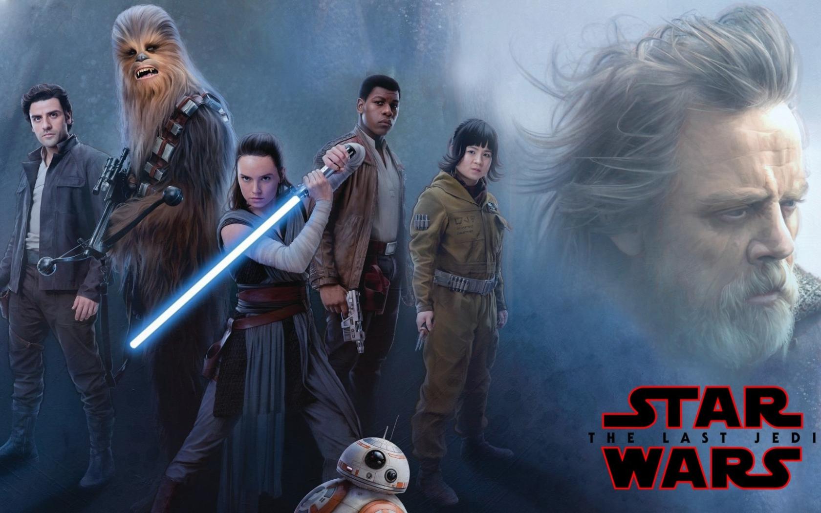 Daisy Ridley Star Wars Wallpaper: Star Wars Jedi Rey Daisy Ridley And Luke Skywalker, Full