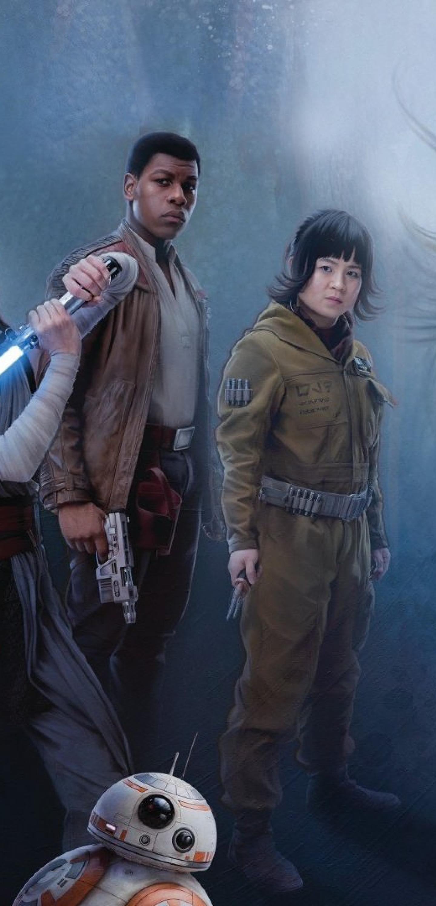 1440x2992 Star Wars Jedi Rey Daisy Ridley And Luke Skywalker