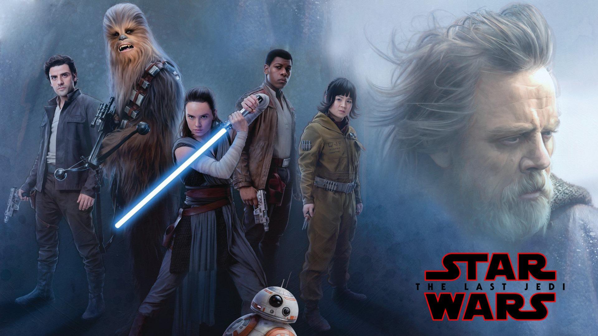 1920x1200 Star Wars Jedi Rey Daisy Ridley And Luke Skywalker
