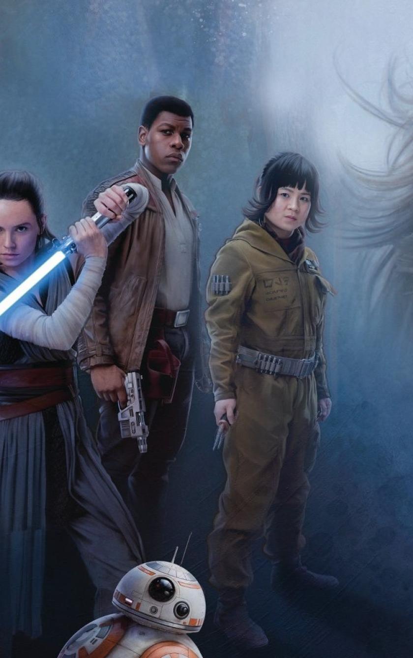 840x1336 Star Wars Jedi Rey Daisy Ridley And Luke Skywalker