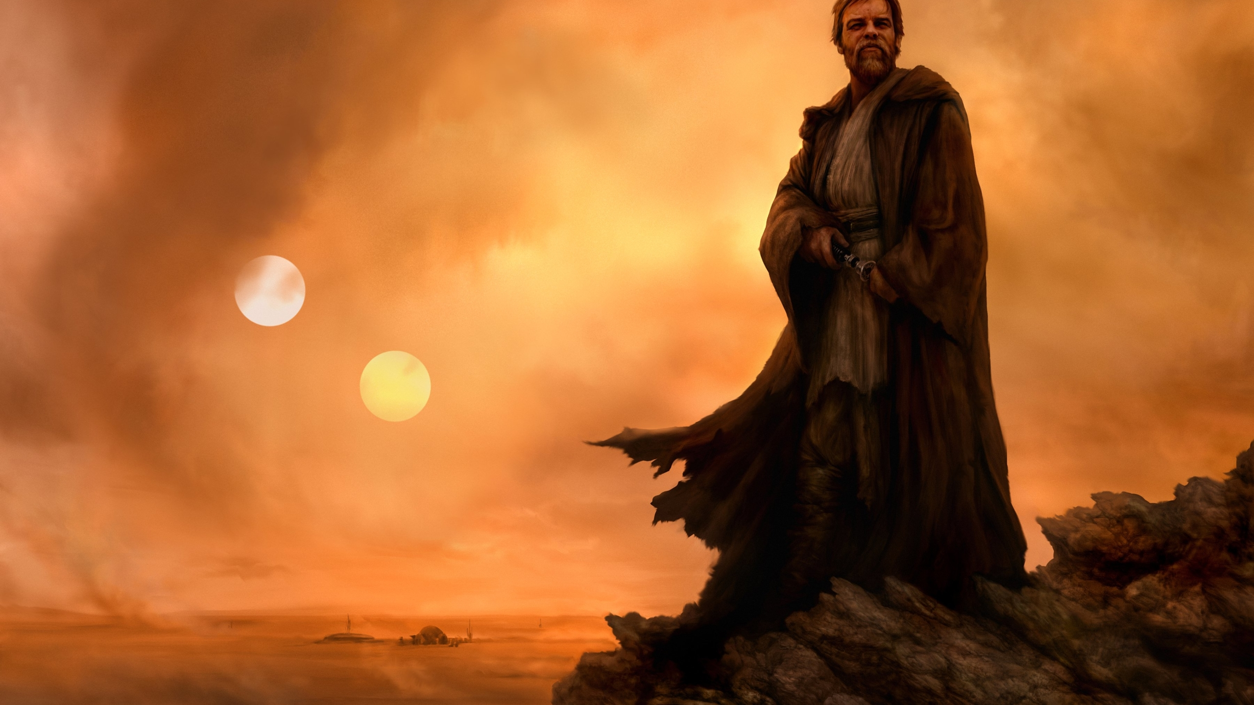 2560x1440 Star Wars Obi Wan Artwork 1440p Resolution Wallpaper Hd Movies 4k Wallpapers Images Photos And Background